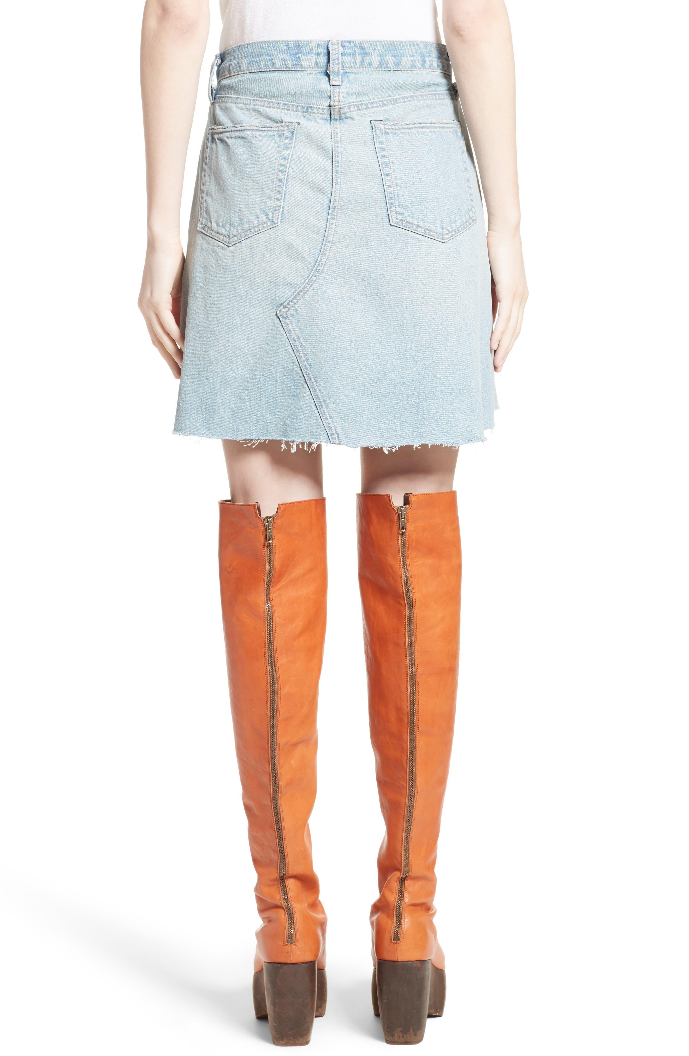 Denim Skirt,                             Alternate thumbnail 2, color,                             400