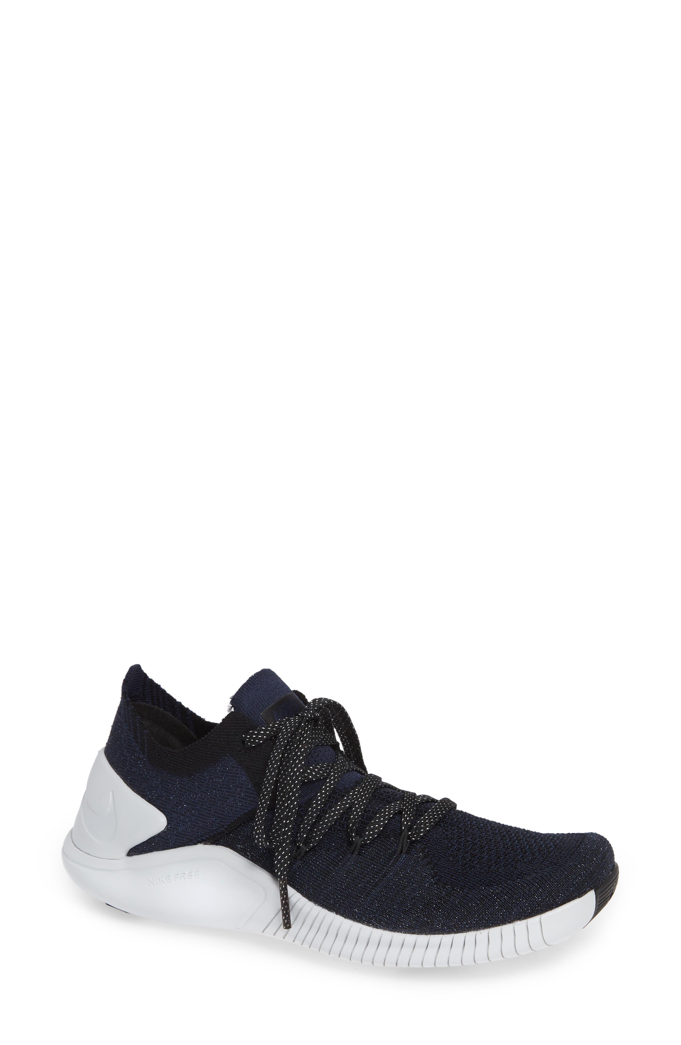 Women'S Free Tr Flyknit 3 Training Shoes, Blue