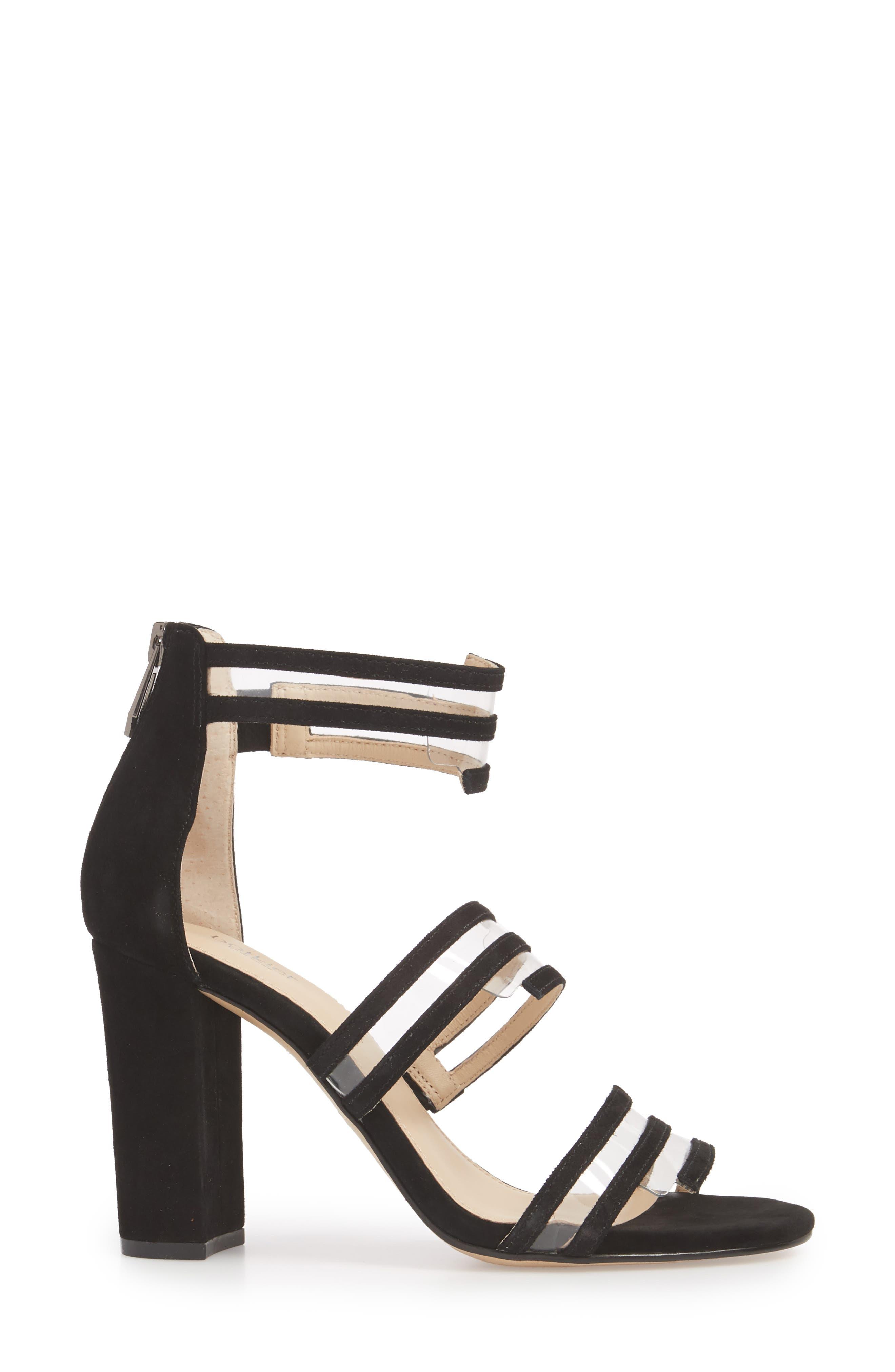 Grecia Sandal,                             Alternate thumbnail 3, color,                             BLACK SUEDE