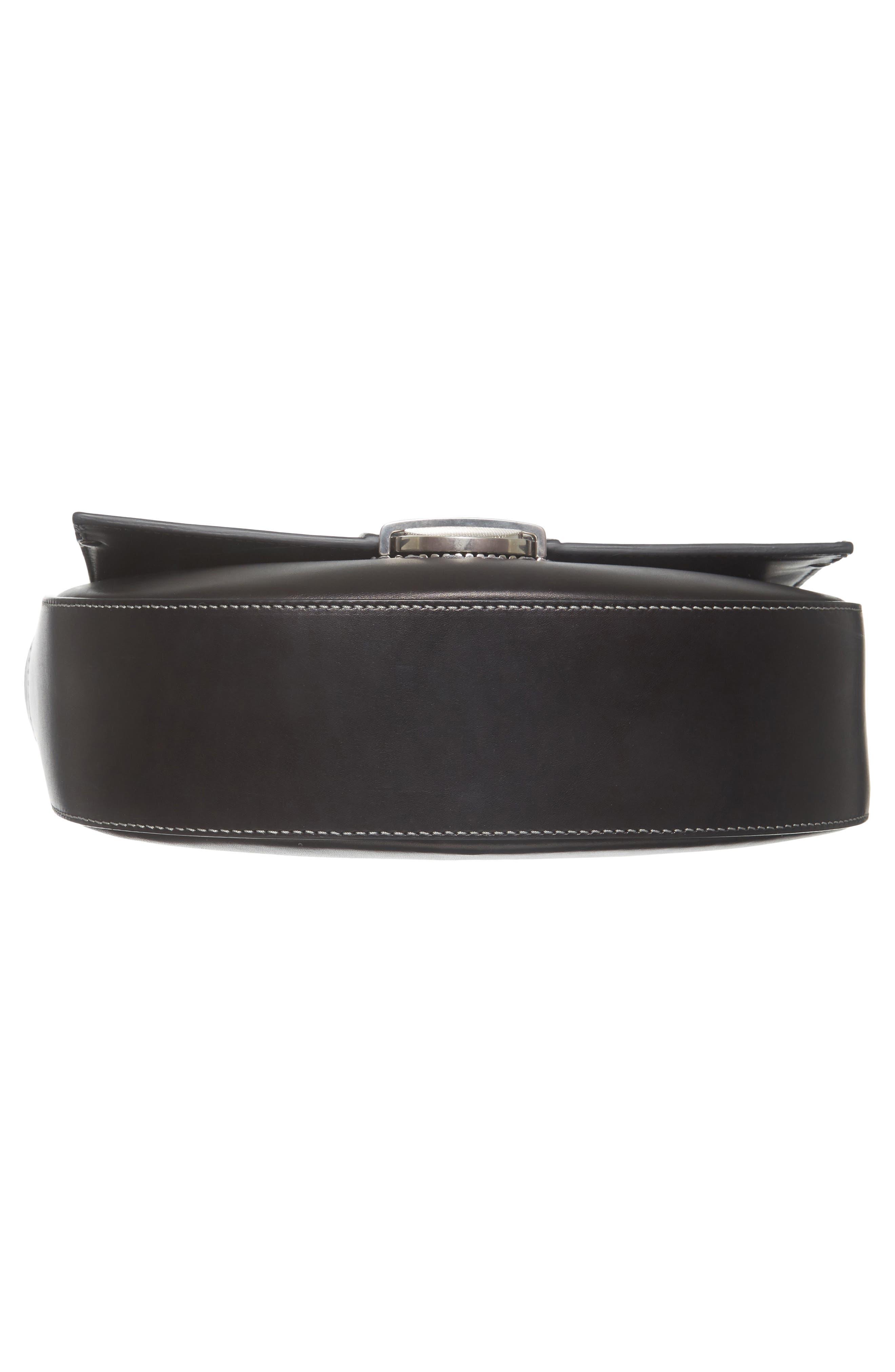 Marlow II Leather Shoulder Bag,                             Alternate thumbnail 6, color,                             001