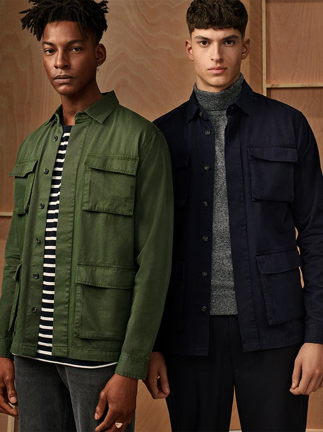 Utility layers, coats and jackets for men from Topman.