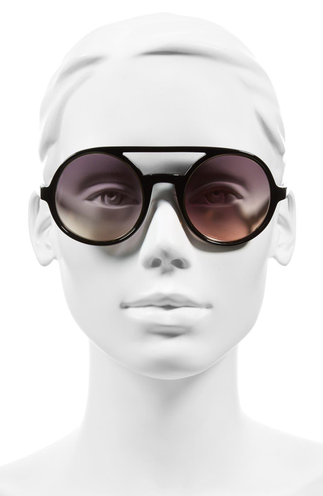 'Morton' 52mm Sunglasses,                             Alternate thumbnail 2, color,                             001