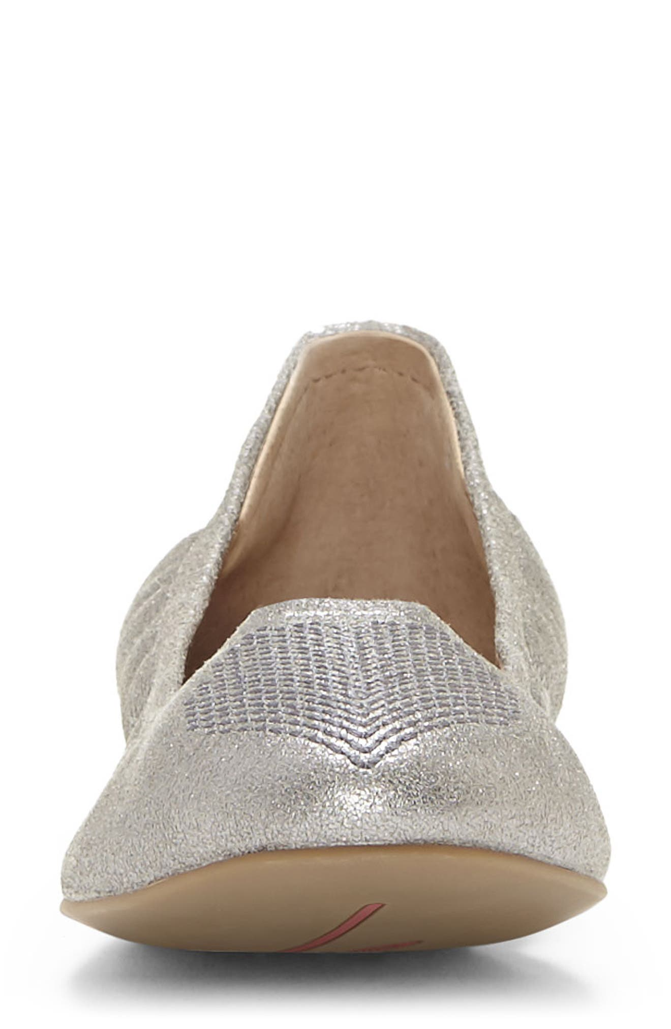 ED ELLEN DEGENERES,                             'Langston' Ballet Flat,                             Alternate thumbnail 4, color,                             SILVER FABRIC