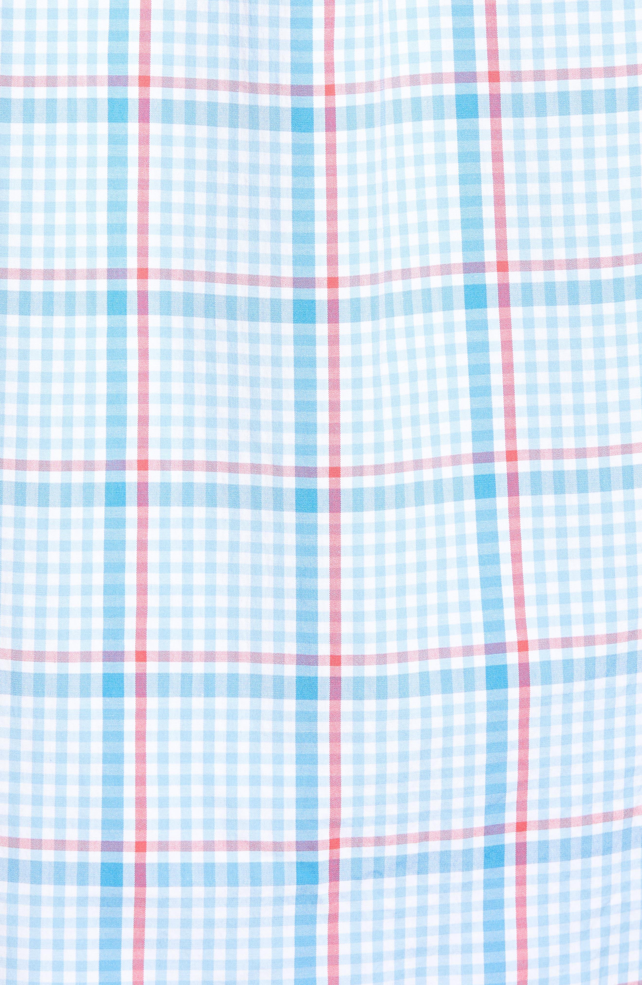 Palmer Island Classic Fit Plaid Sport Shirt,                             Alternate thumbnail 5, color,                             484