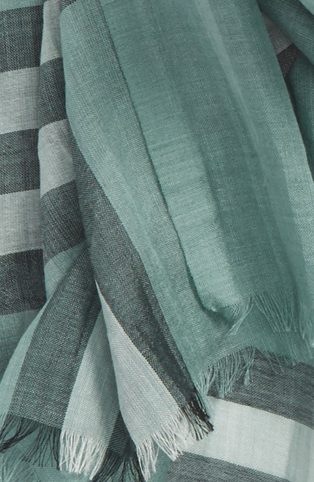 Giant Check Print Wool & Silk Scarf,                             Alternate thumbnail 136, color,