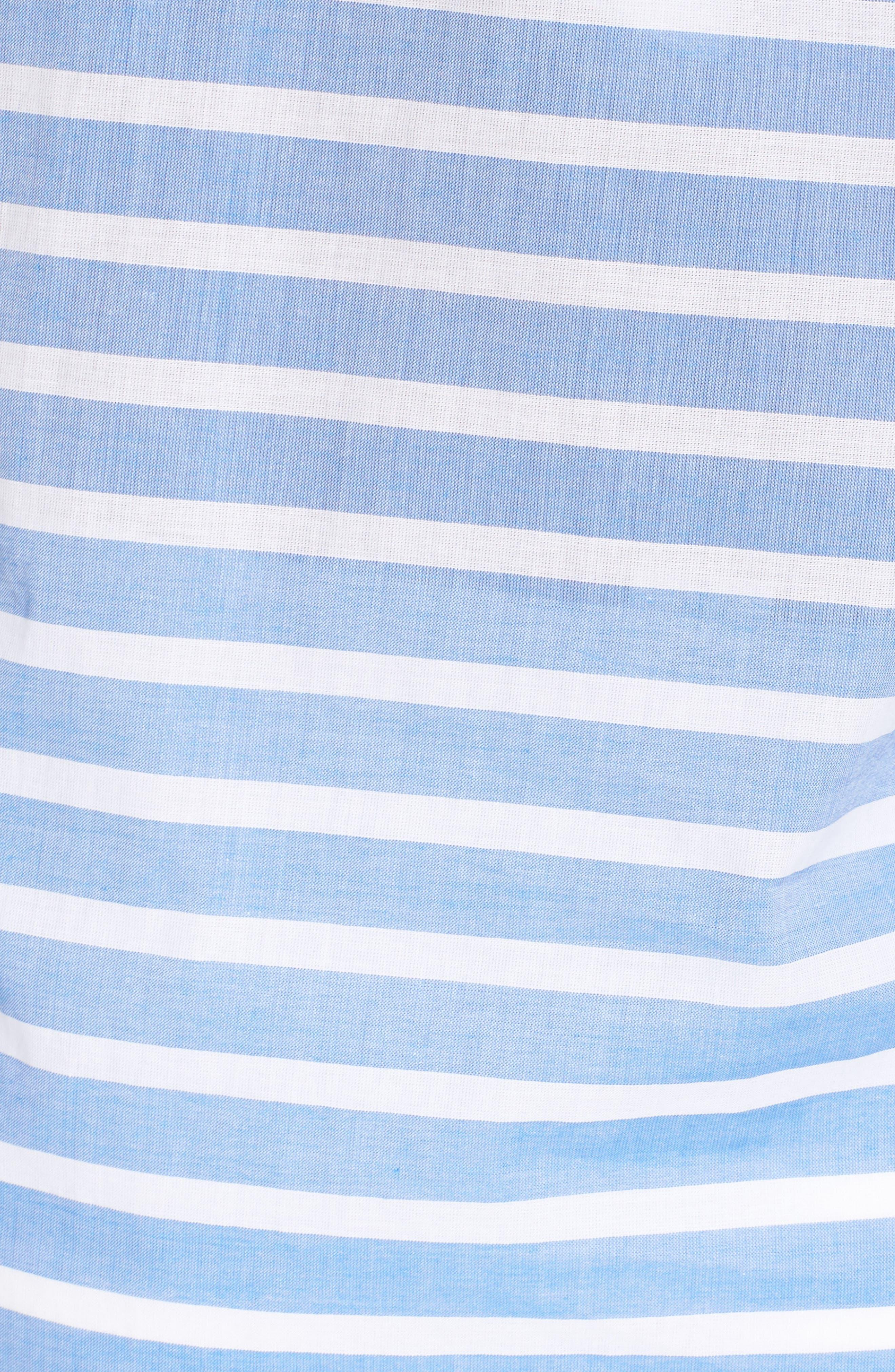 Brenton Stripe Boyfriend Shirt Cover-Up,                             Alternate thumbnail 18, color,