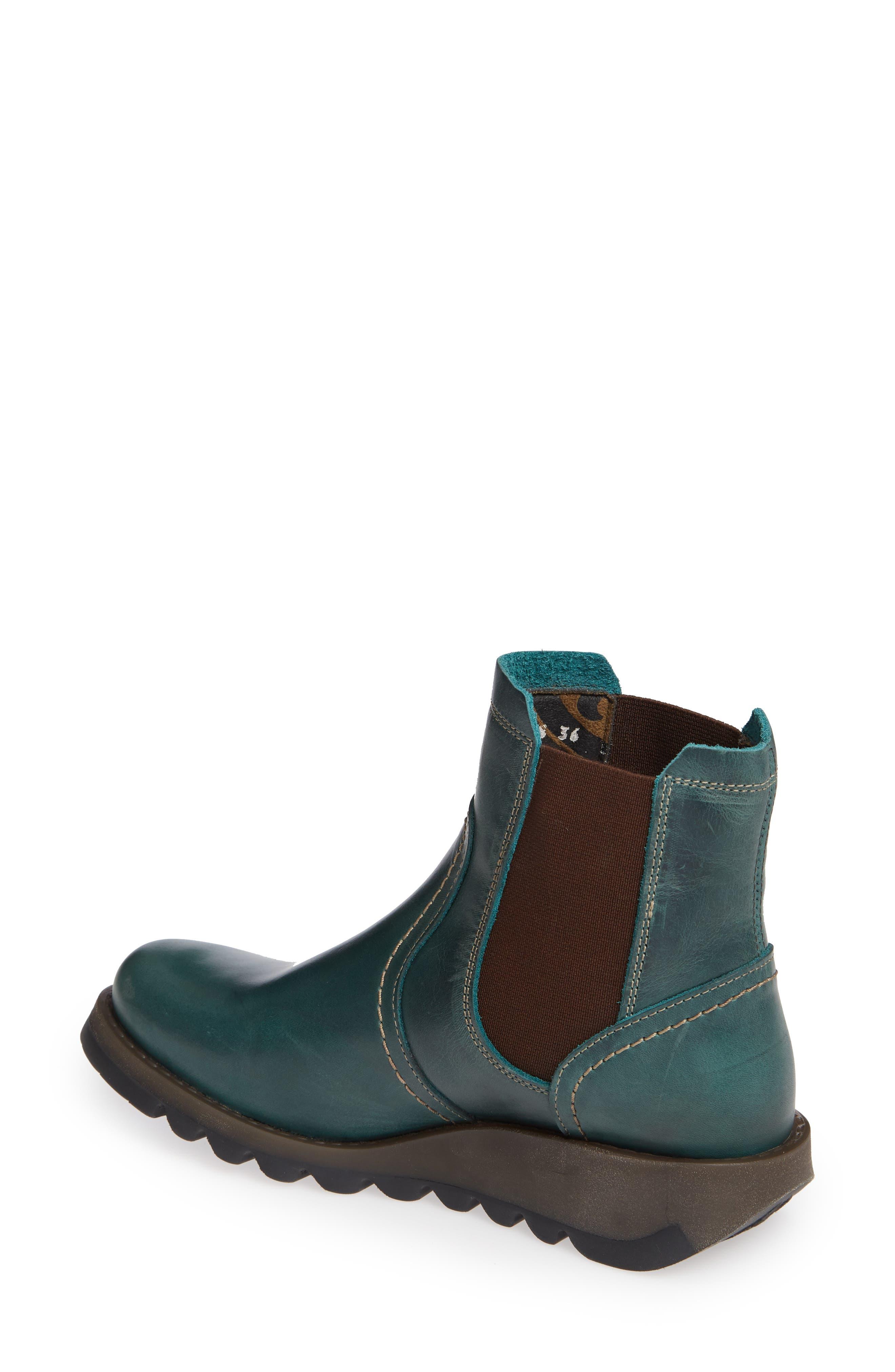 Scon Waterproof Gore-Tex<sup>®</sup> Chelsea Boot,                             Alternate thumbnail 2, color,                             PETROL