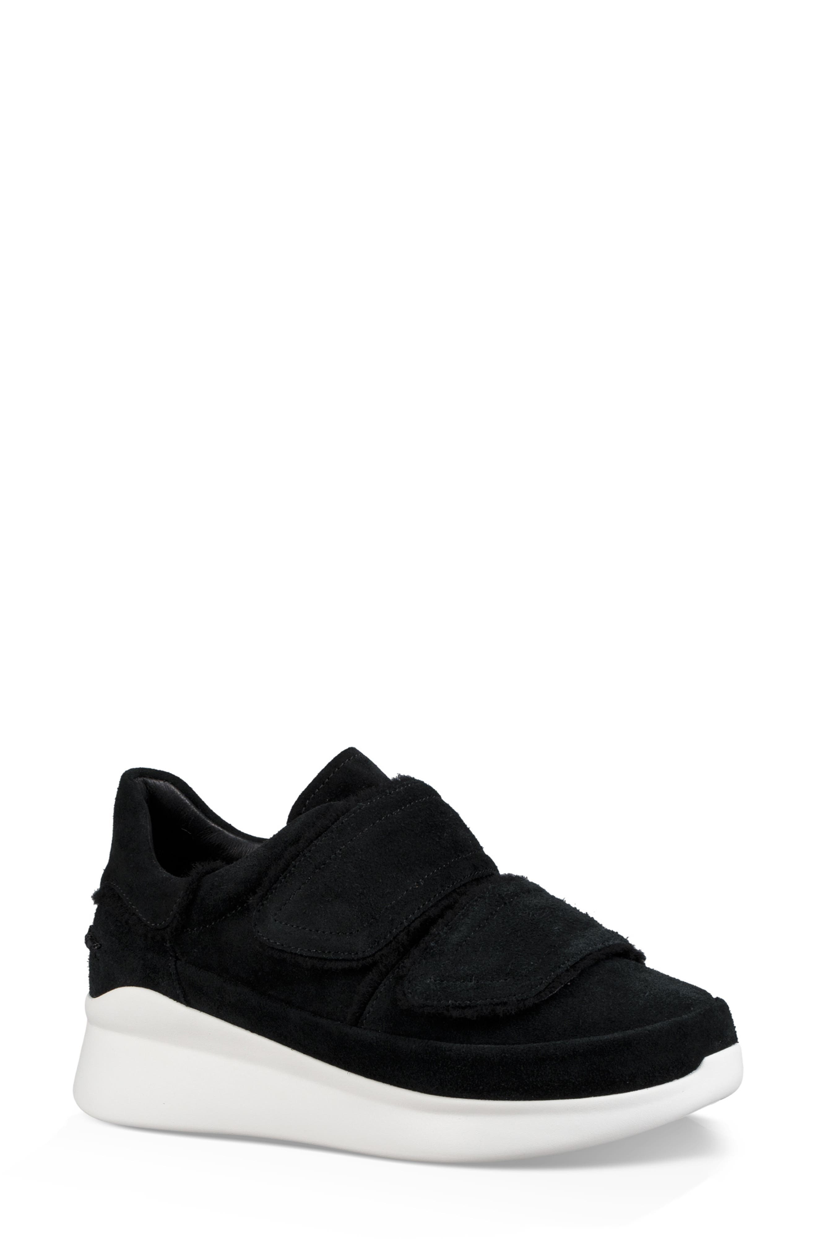 Ashby Spill Seam Sneakers in Black Leather