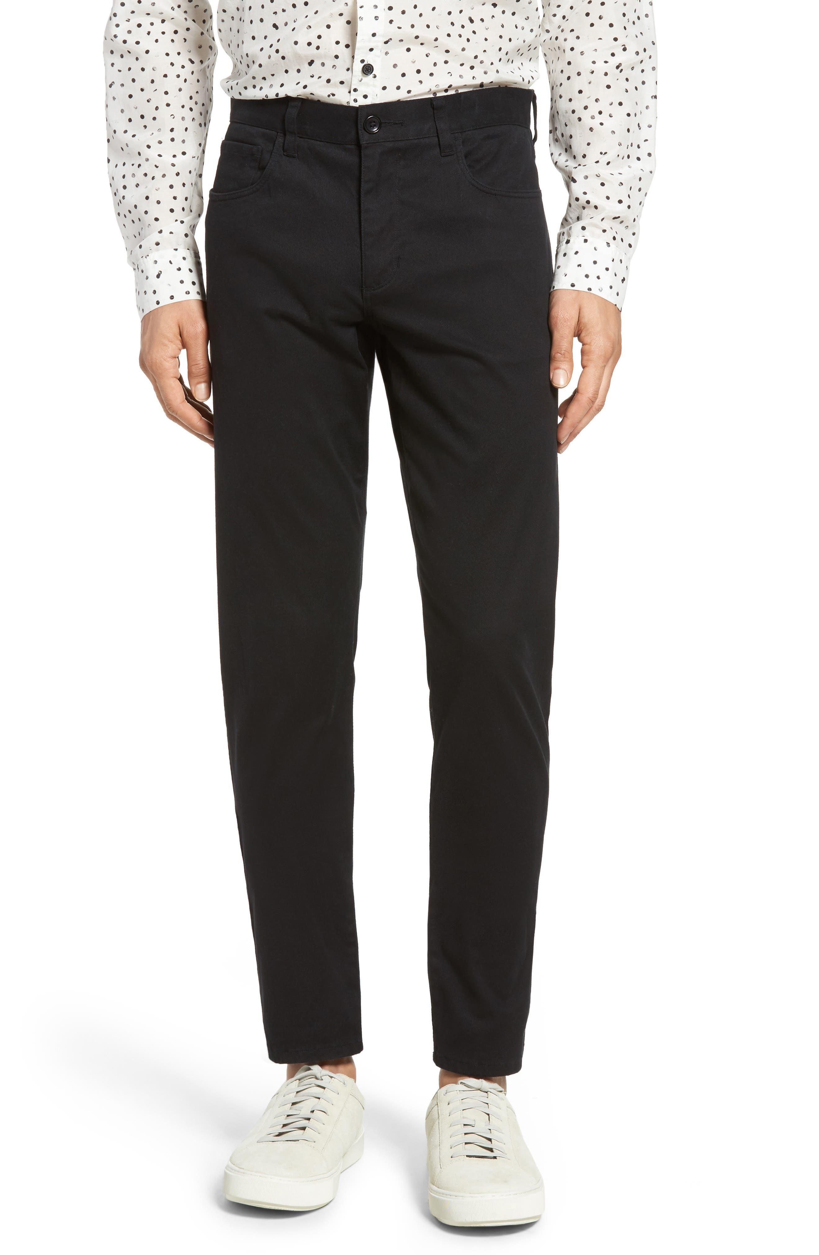 VINCE Soho Slim Fit Five-Pocket Pants, Main, color, 001