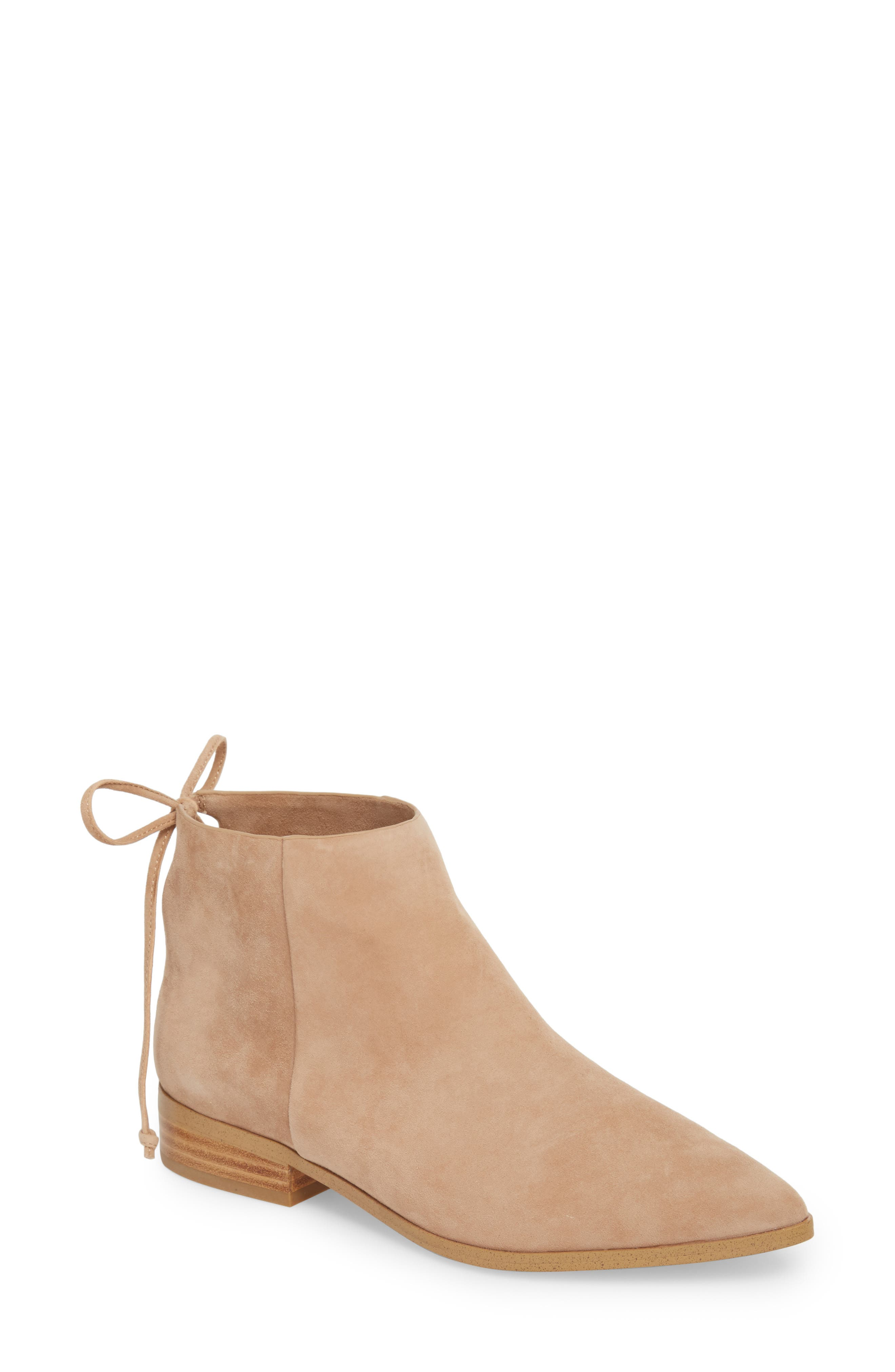Niva Bootie,                             Main thumbnail 1, color,                             DRIFTWOOD SUEDE