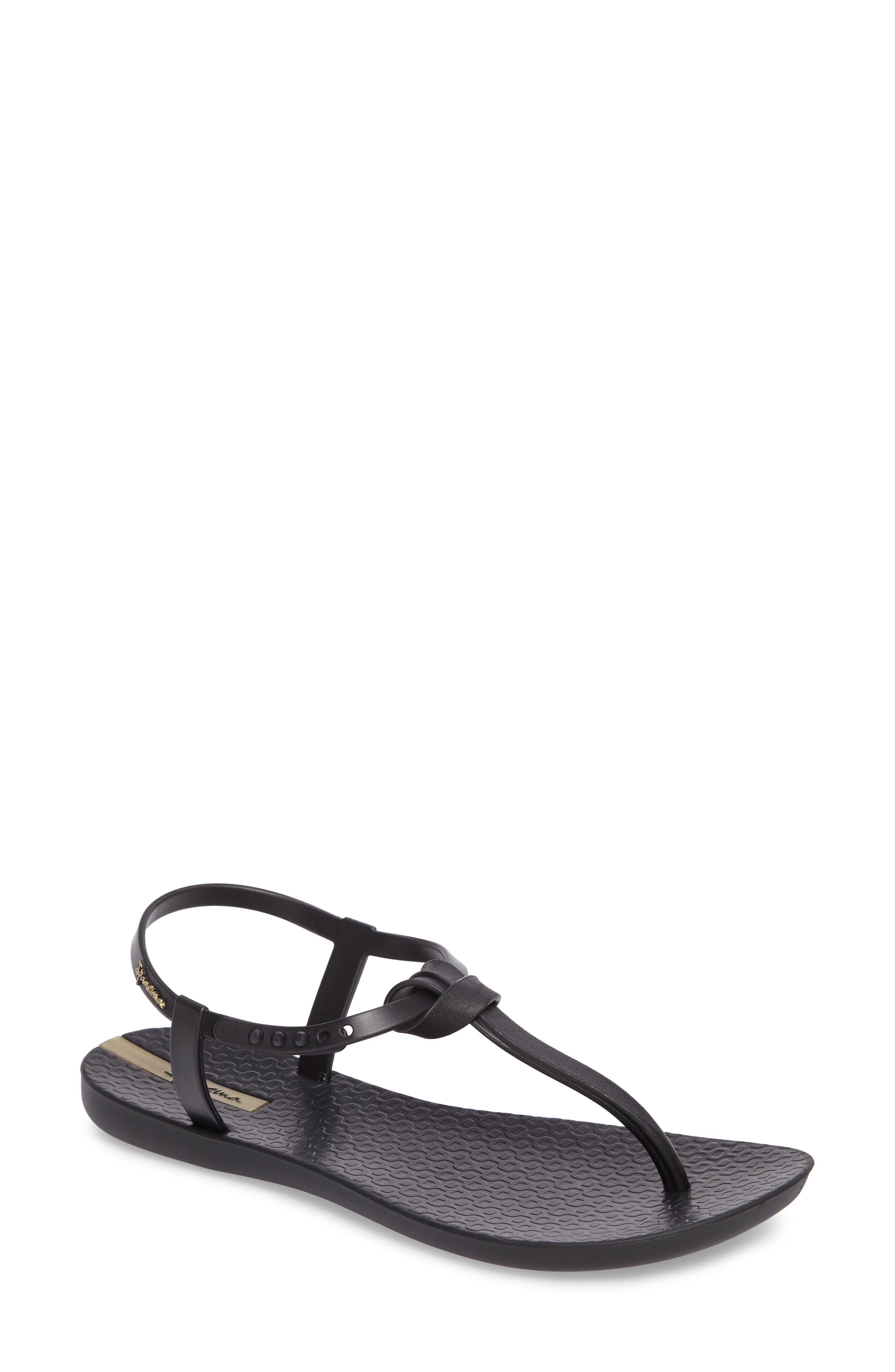 IPANEMA Women'S Ellie Thong Sandals in Black/ Black