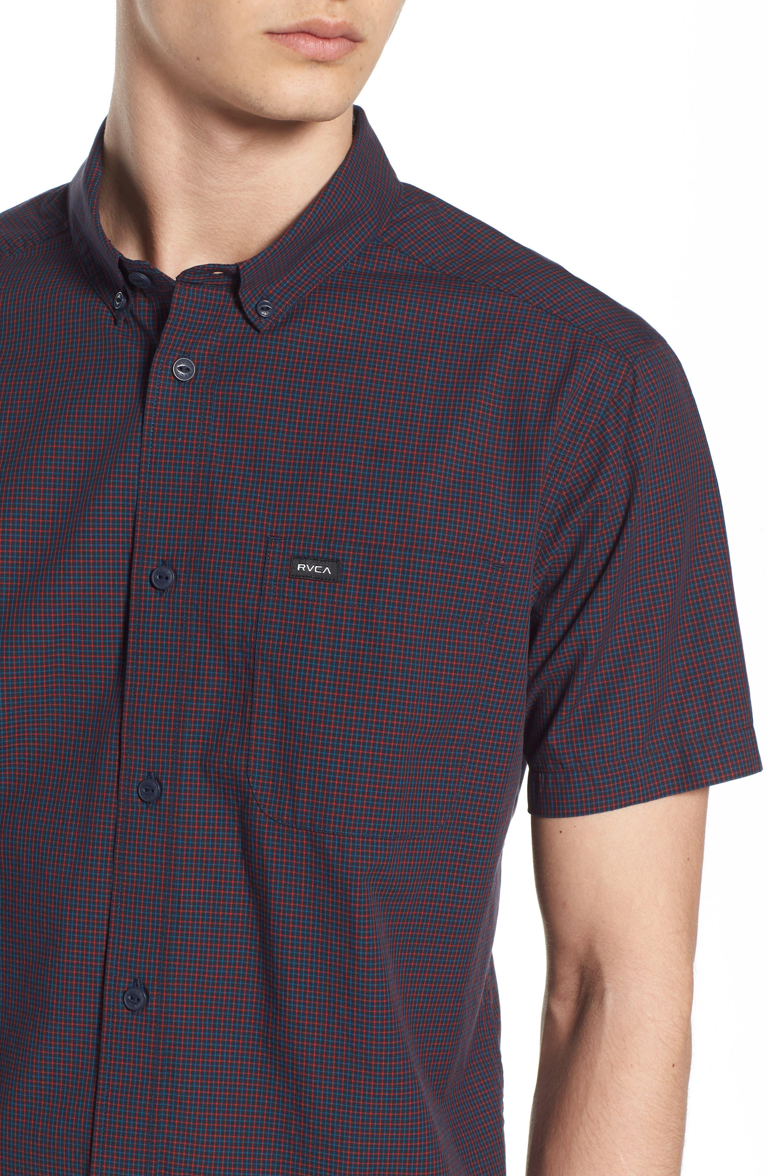 Staple Woven Shirt,                             Alternate thumbnail 4, color,                             NEW NAVY