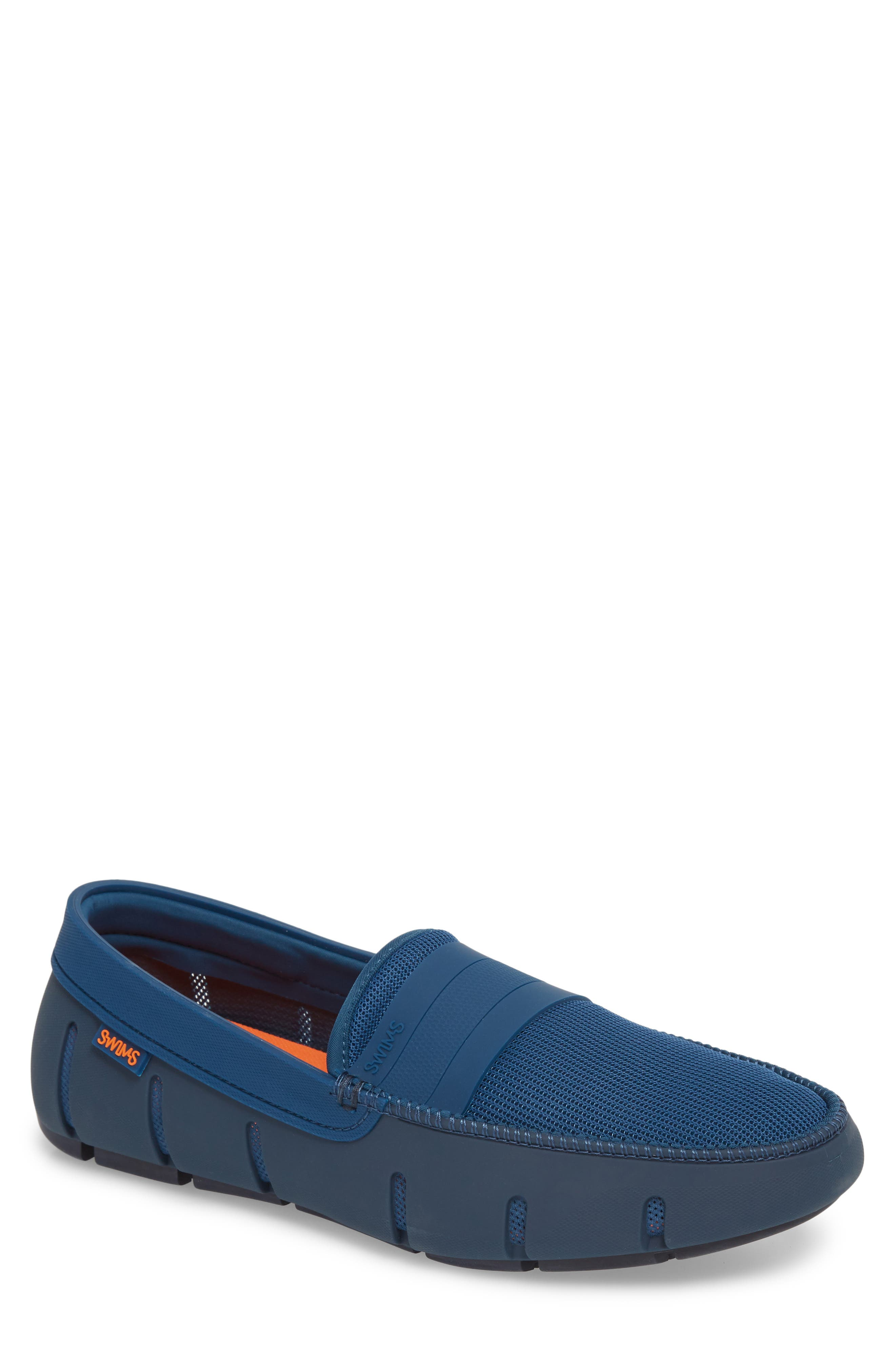 Stride Banded Loafer,                             Main thumbnail 1, color,                             POSEIDON/ NAVY FABRIC