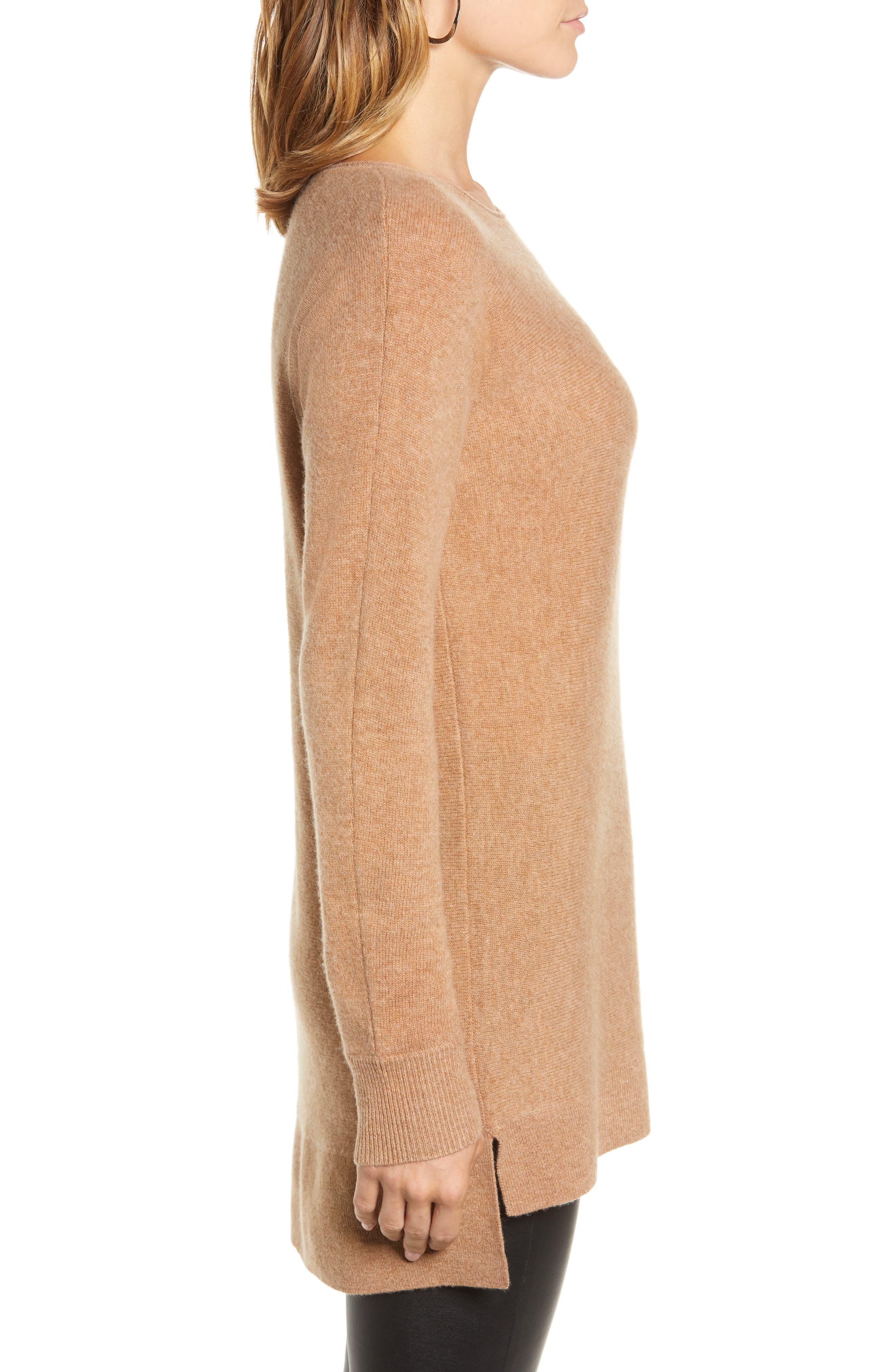 High/Low Wool & Cashmere Tunic Sweater,                             Alternate thumbnail 58, color,