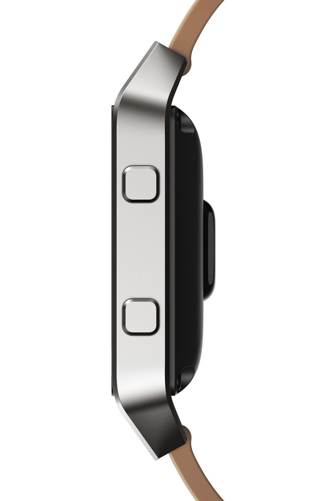 Blaze Leather Smart Watch Band,                             Alternate thumbnail 7, color,                             250