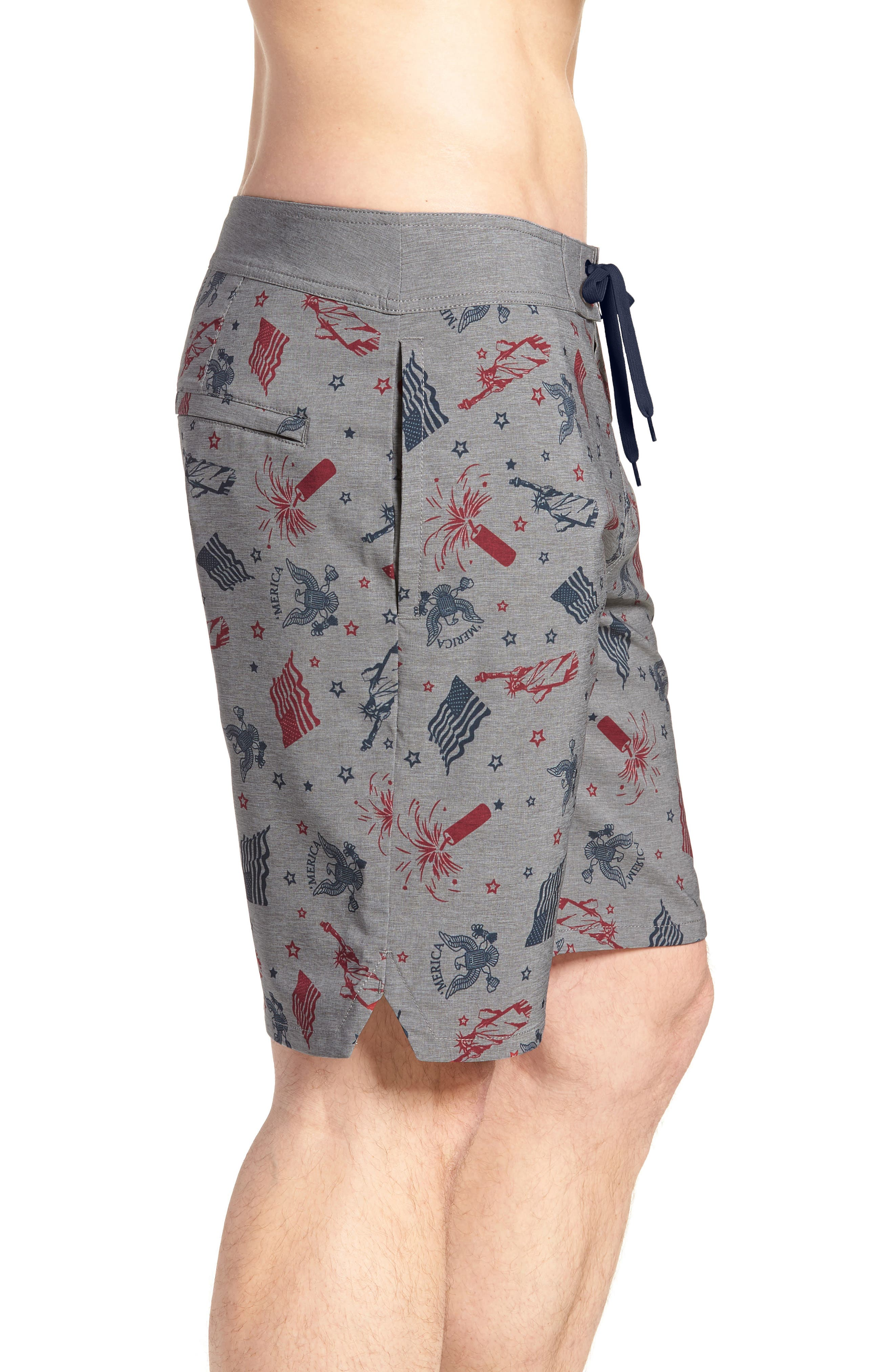 Liberty Swim Trunks,                             Alternate thumbnail 3, color,                             HEATHER GRIFFIN