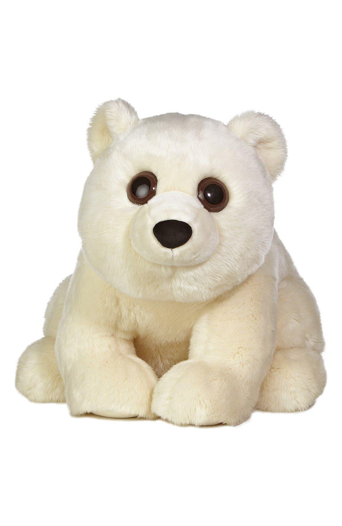 'Americana Bears - Arctic Polar Bear' Stuffed Animal,                             Main thumbnail 1, color,                             WHITE