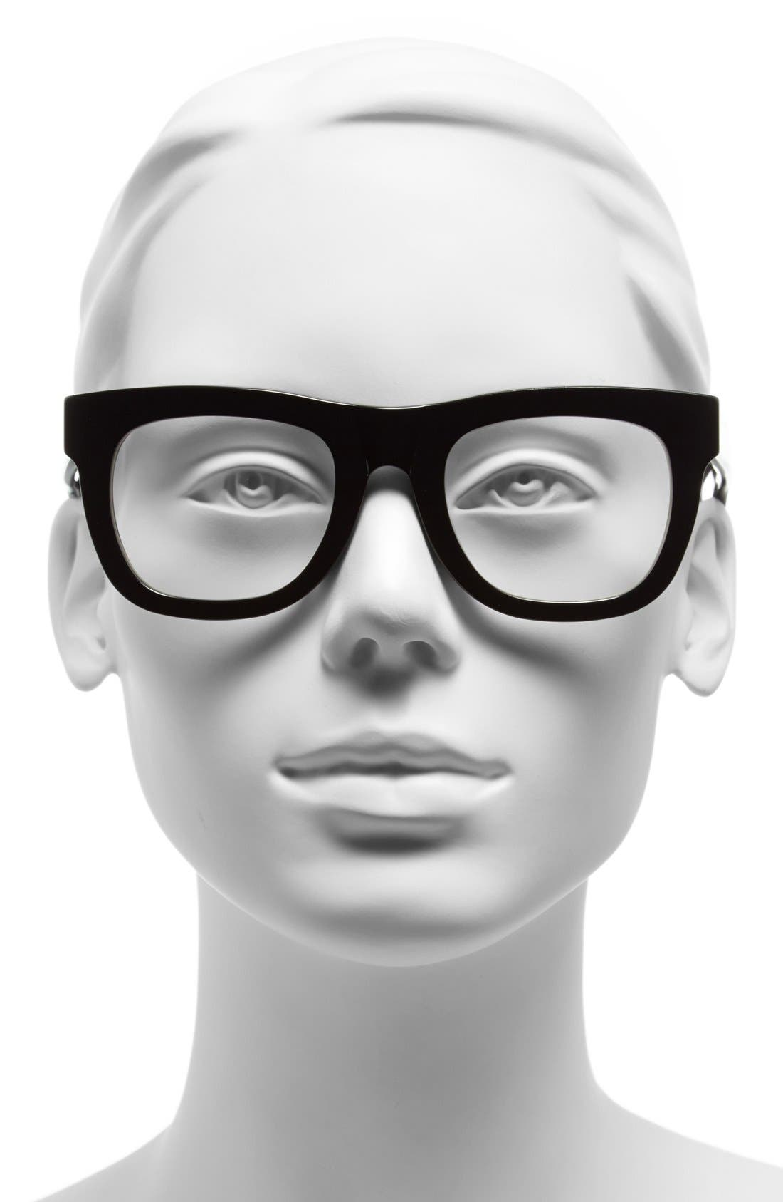 SUPER BY RETROSUPERFUTURE<SUP>®</SUP>,                             RETROSUPERFUTURE<sup>®</sup> 50mm 'Ciccio' Optical Glasses,                             Alternate thumbnail 2, color,                             001