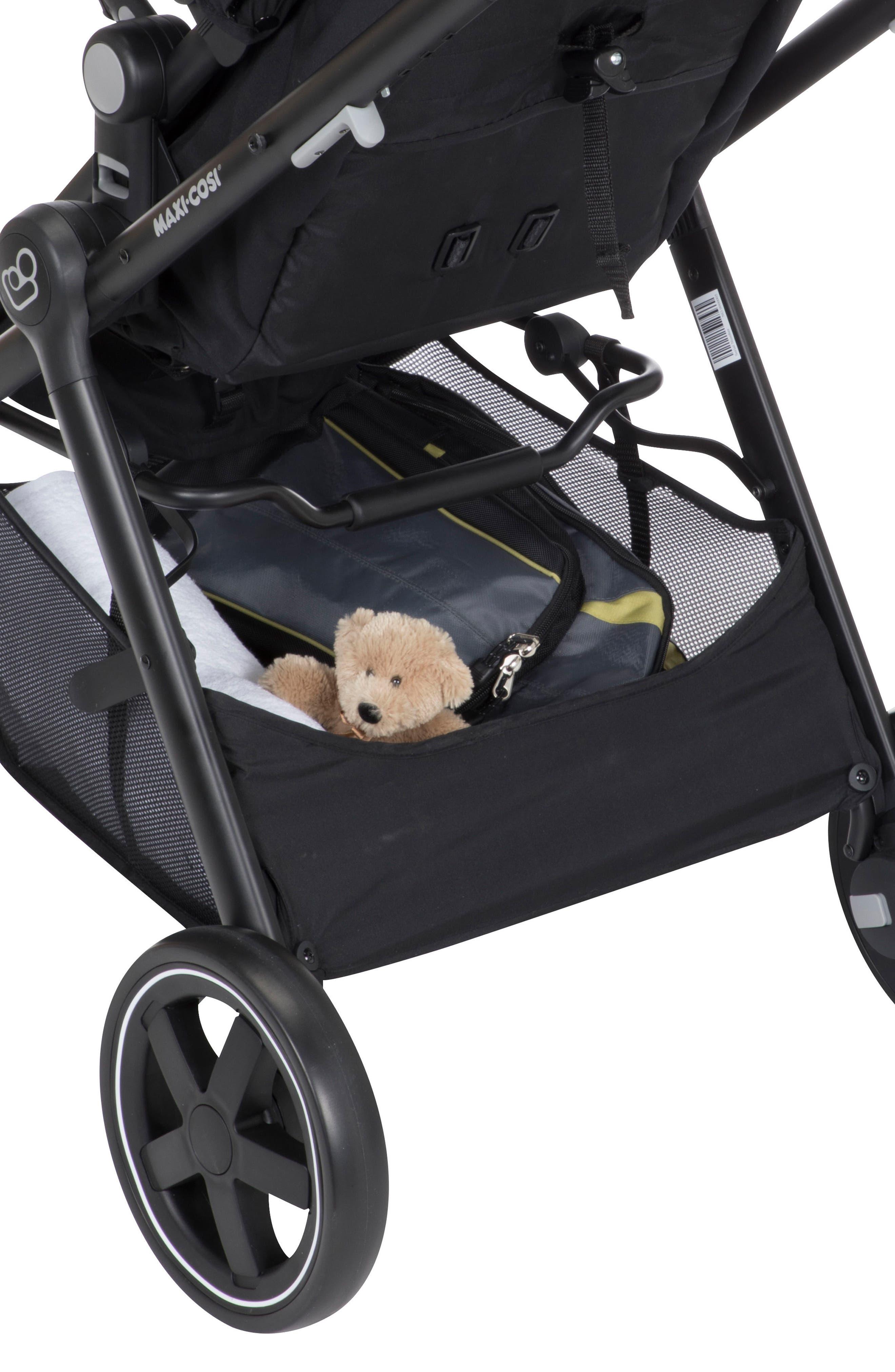5-1 Mico 30 Infant Car Seat & Zelia Stroller Modular Travel System,                             Alternate thumbnail 6, color,                             NIGHT BLACK