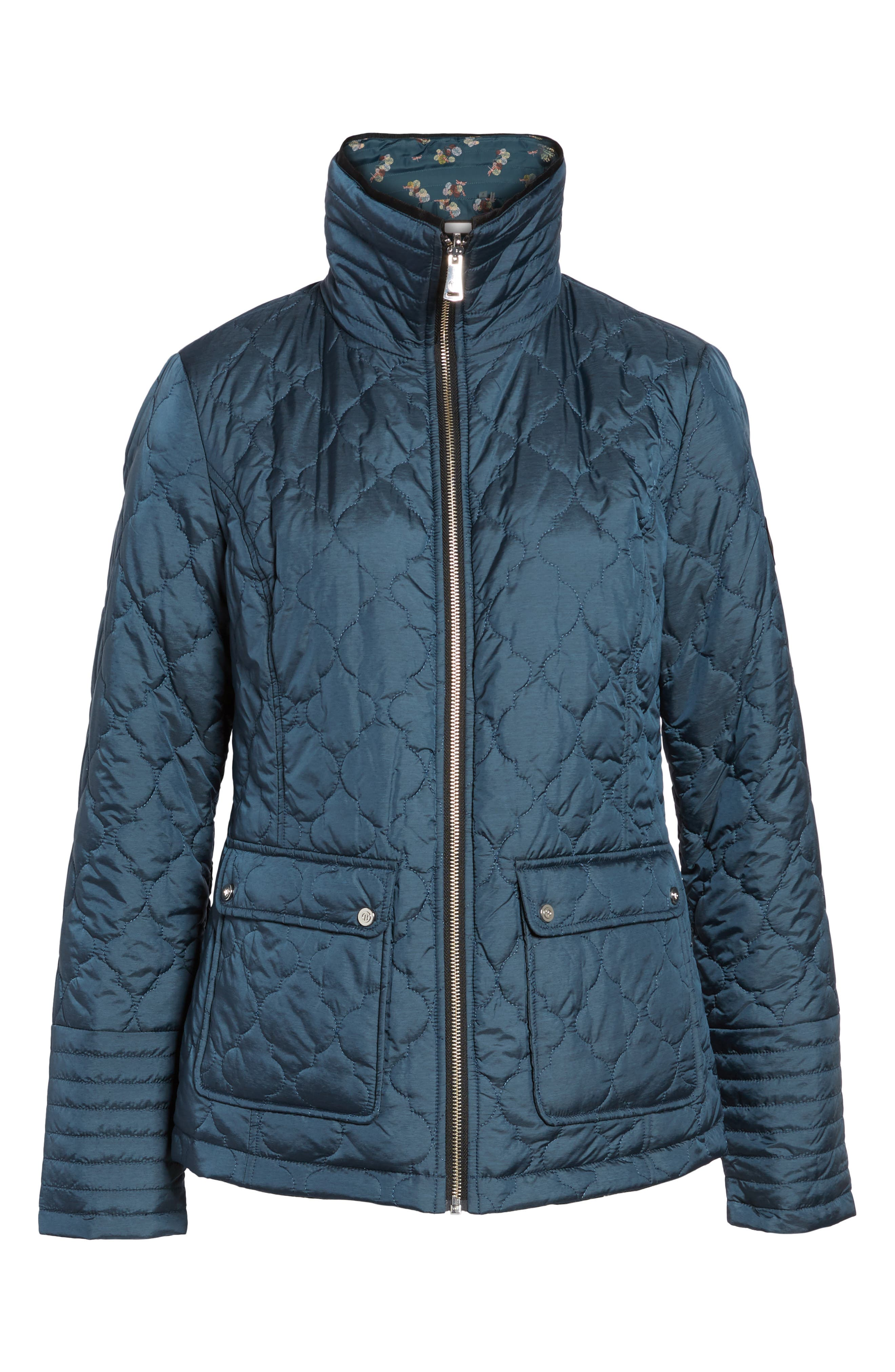 Reversible Insulated Quilted Jacket,                             Alternate thumbnail 5, color,