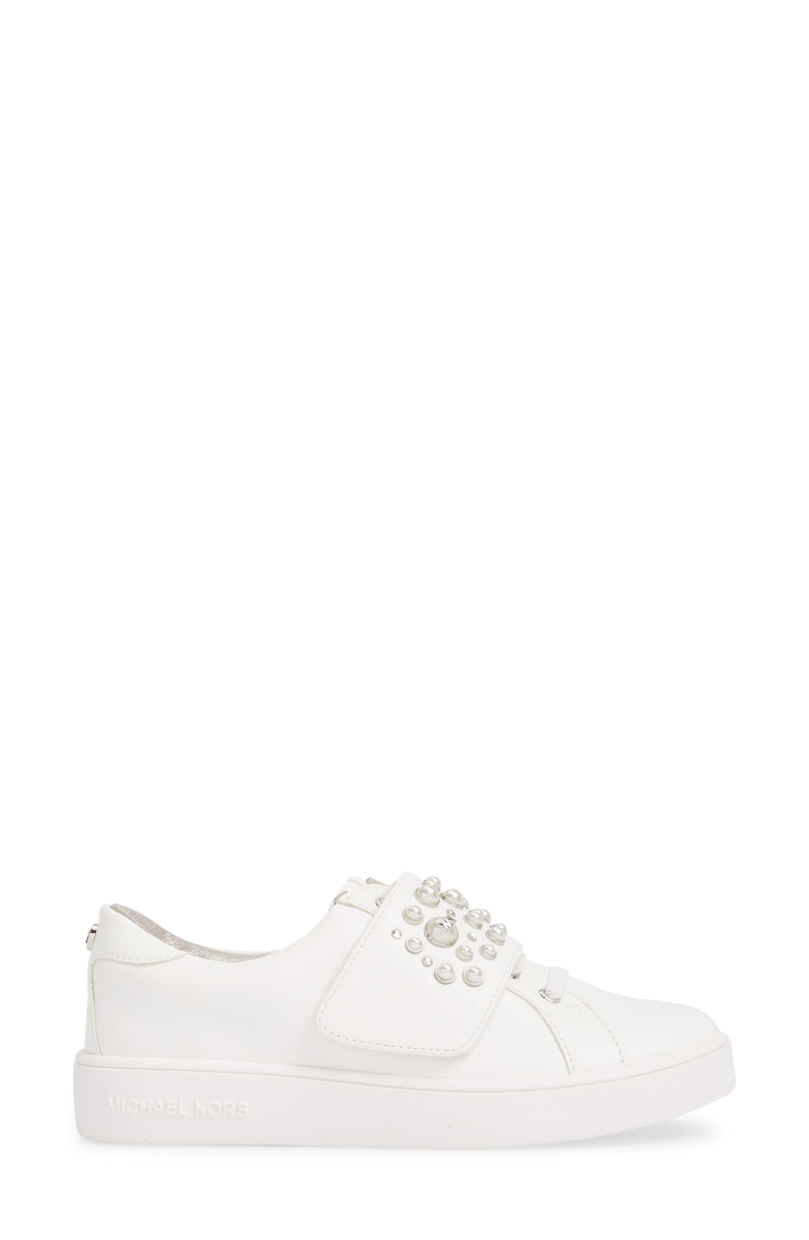 Ivy Embellished Metallic Sneaker,                             Alternate thumbnail 3, color,                             100