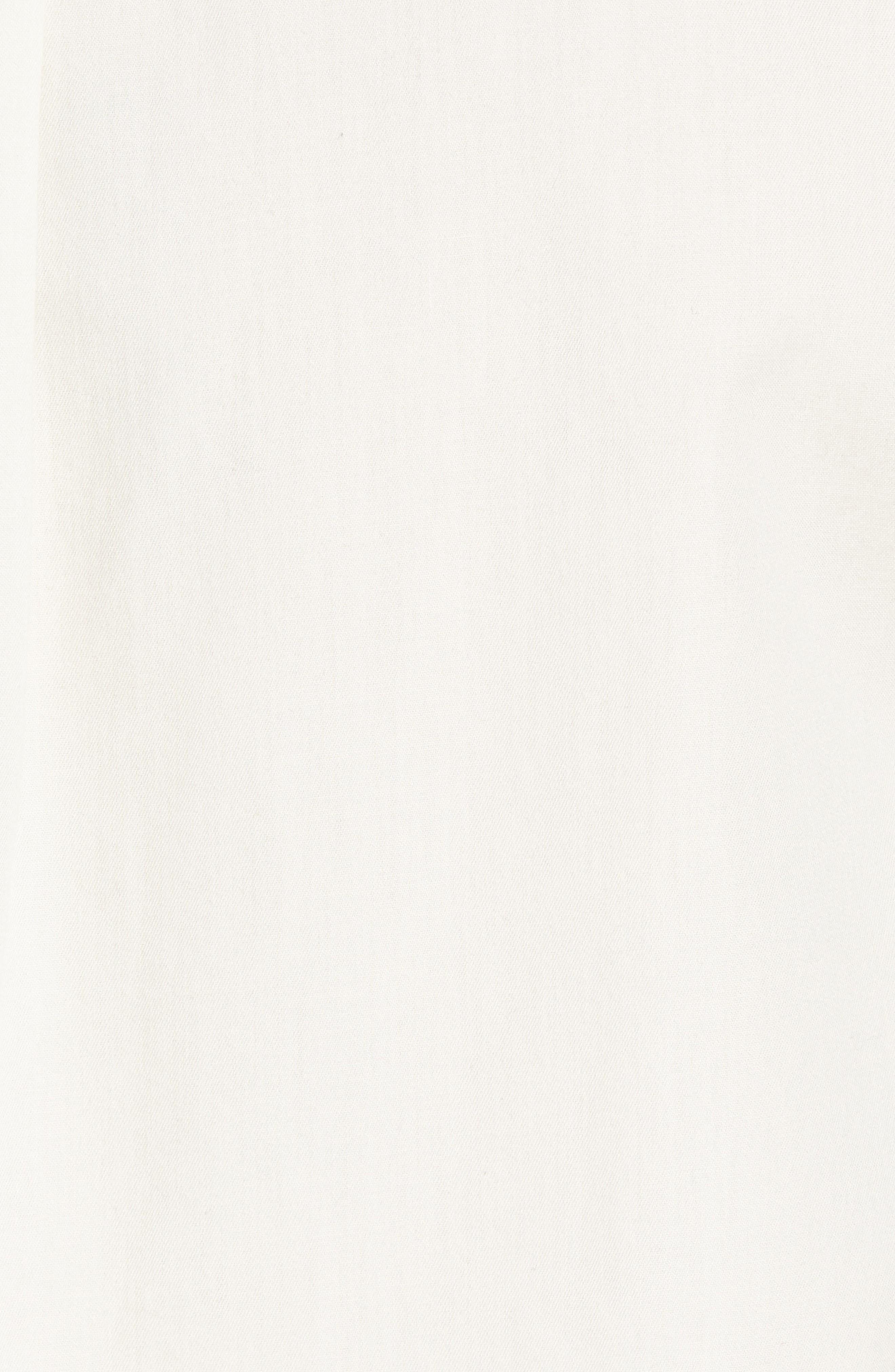 Check Collar Short Sleeve Shirt,                             Alternate thumbnail 5, color,                             OFF WHITE