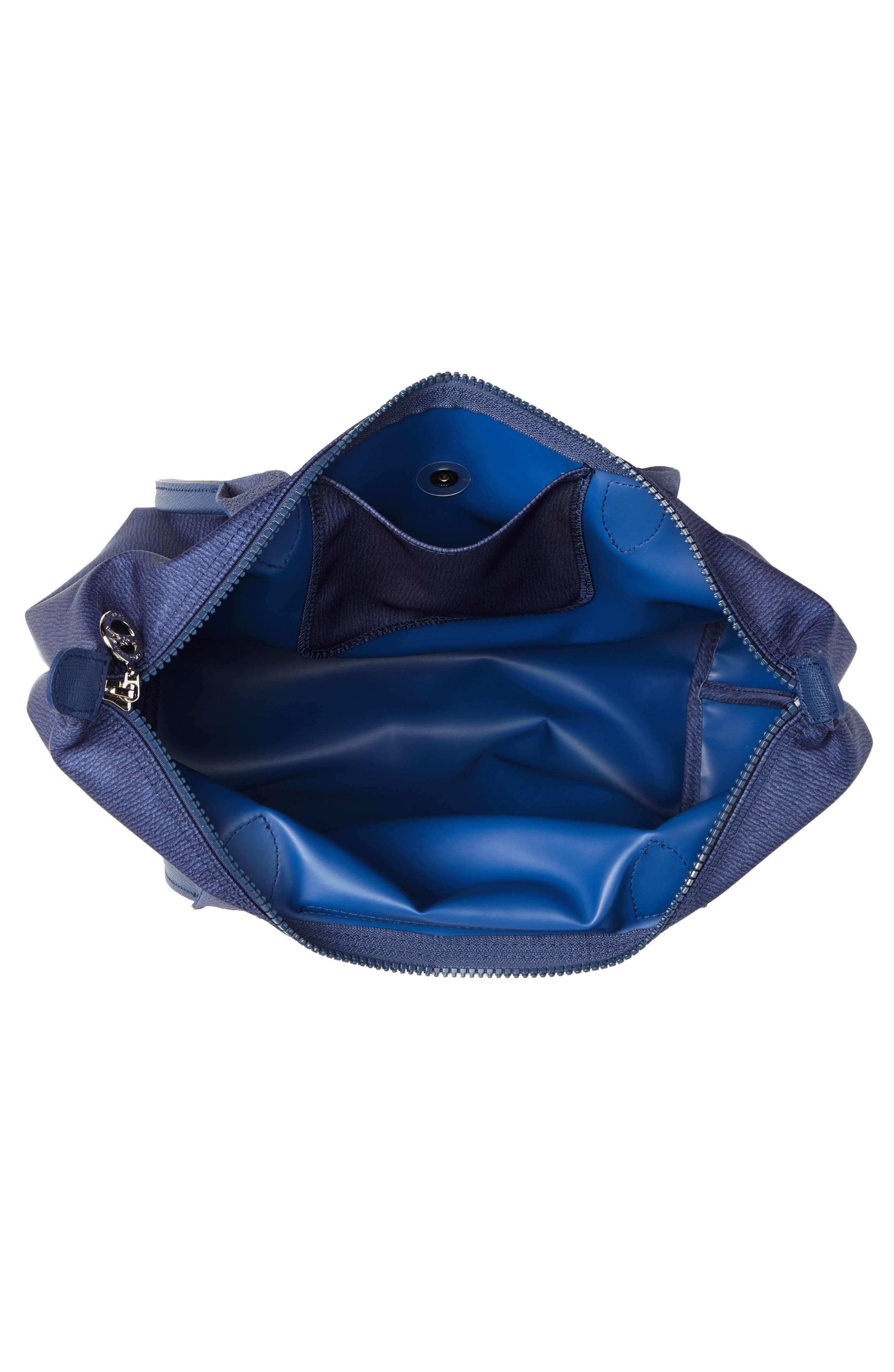 Le Pliage Jeans Small Shoulder Bag,                             Alternate thumbnail 4, color,                             DENIM