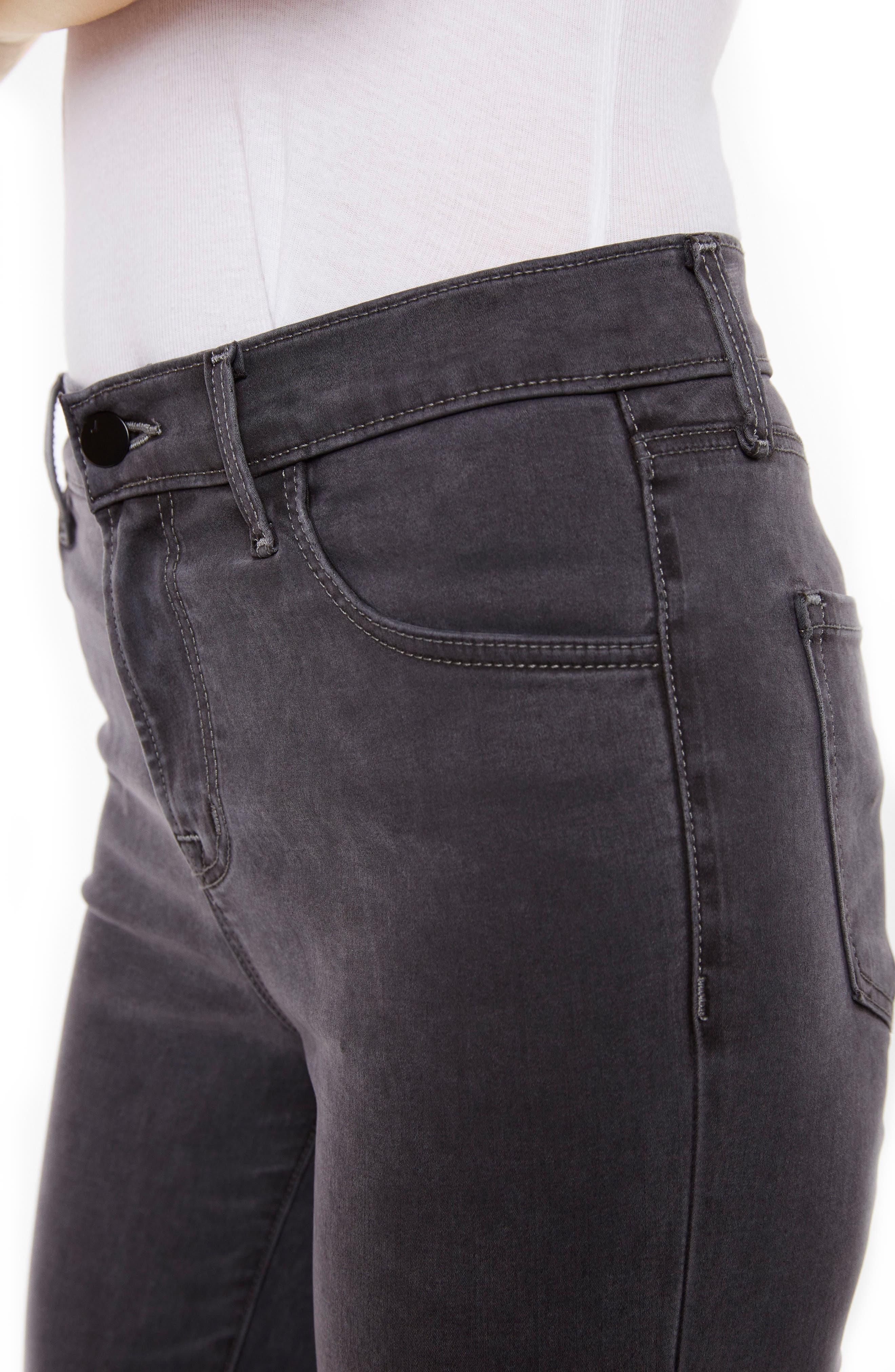 Alana High Waist Crop Skinny Jeans,                             Alternate thumbnail 4, color,