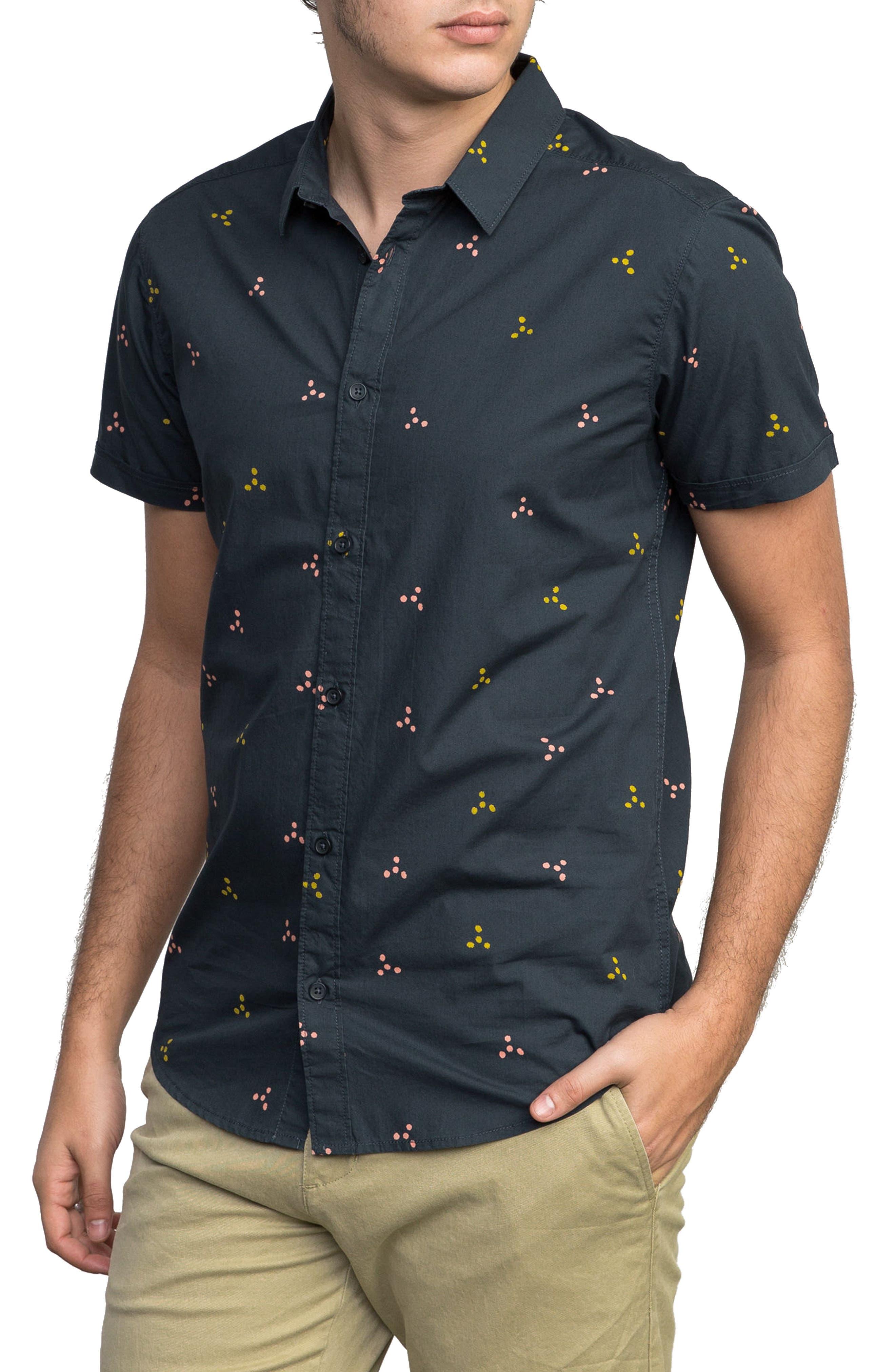 Tridot Woven Shirt,                             Alternate thumbnail 3, color,                             020