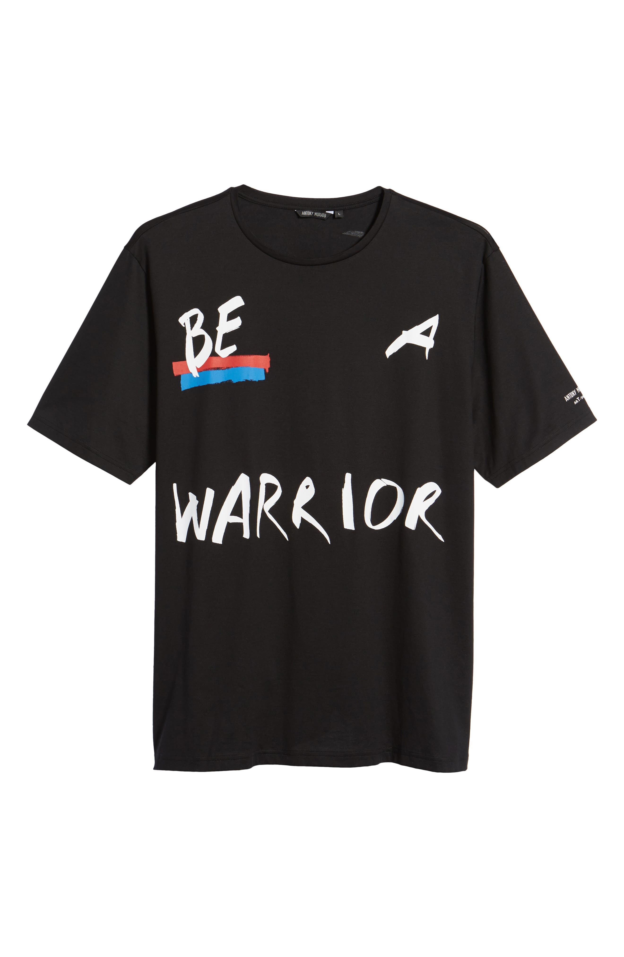 Be Warrior Graphic T-Shirt,                             Alternate thumbnail 6, color,                             001