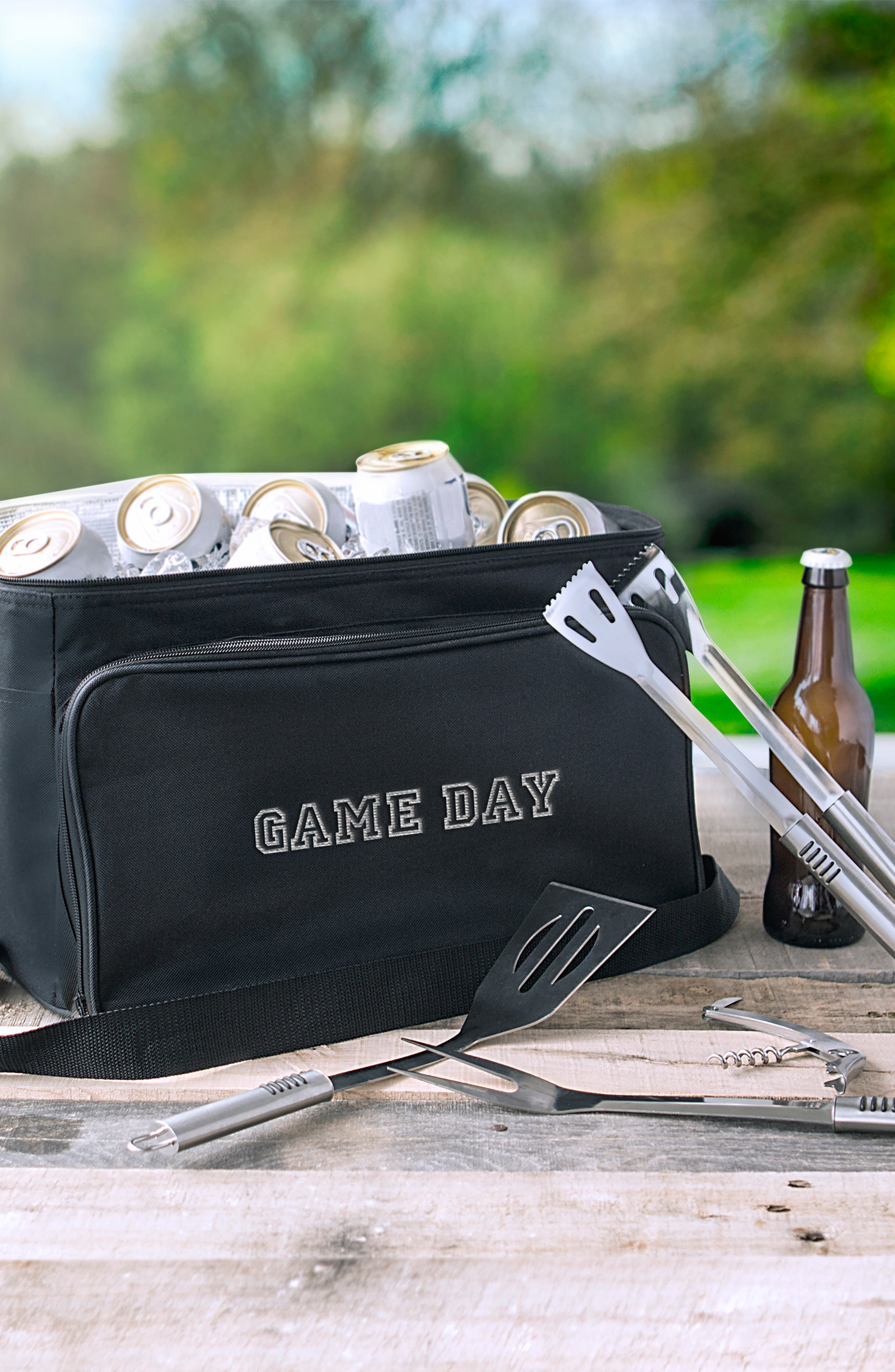 'Game Day' Cooler & BBQ Tool Set,                             Alternate thumbnail 2, color,                             001