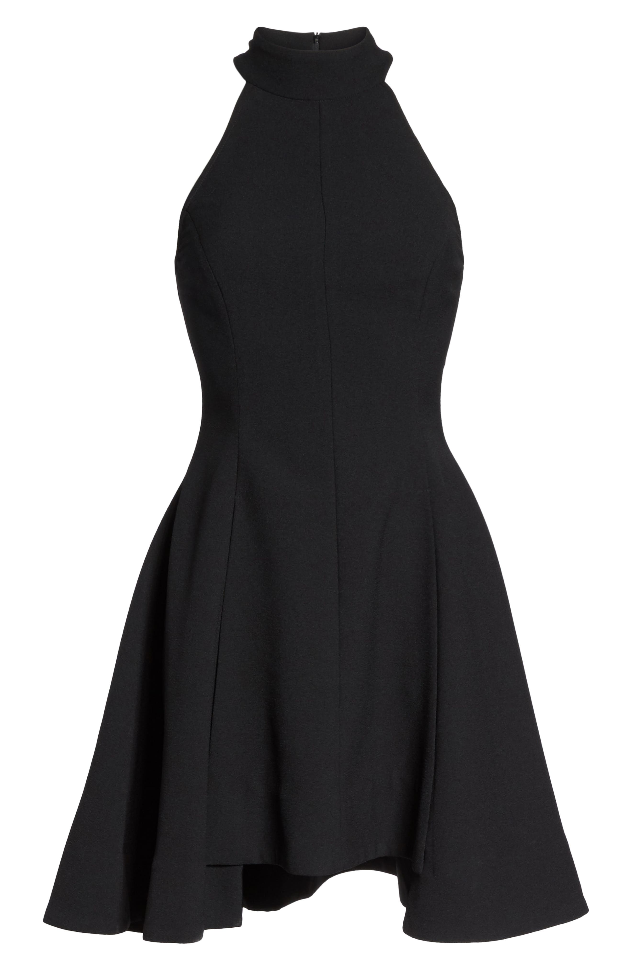 Fusion Halter Style Fit & Flare Dress,                             Alternate thumbnail 6, color,                             001
