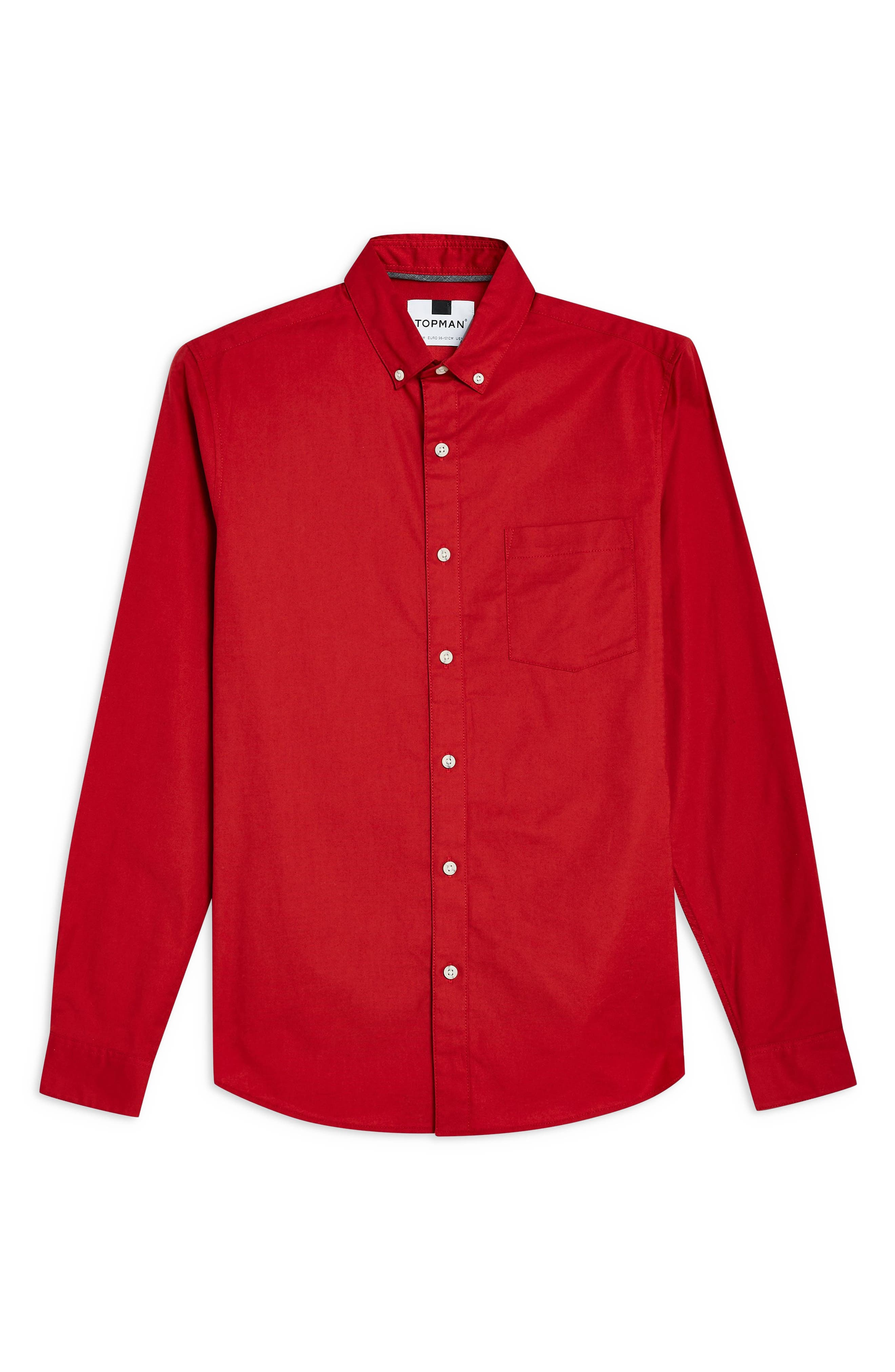 Stretch Solid Sport Shirt,                             Alternate thumbnail 4, color,                             RED
