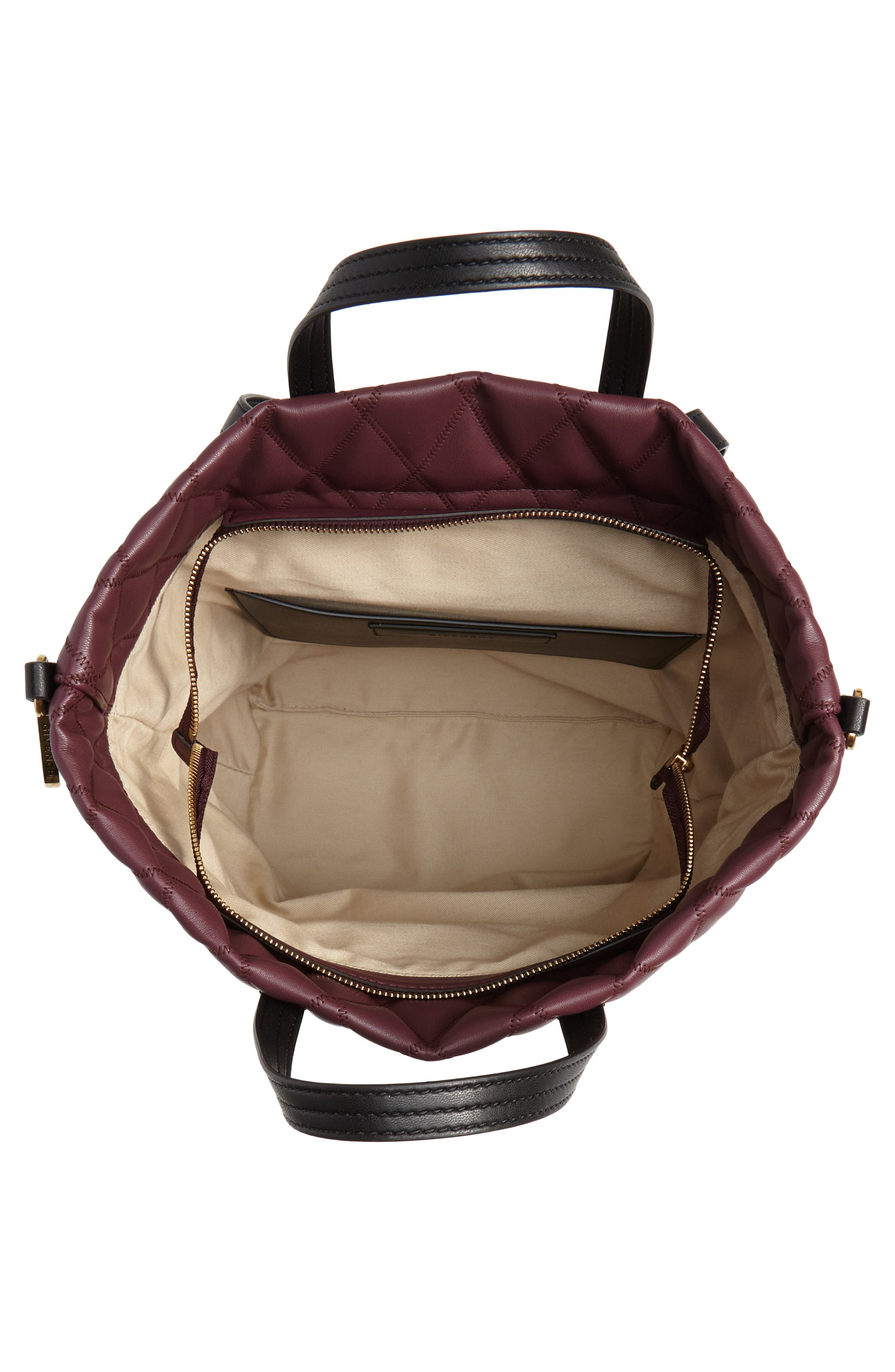Duo Quilted Faux Leather Backpack,                             Alternate thumbnail 4, color,                             AUBERGINE