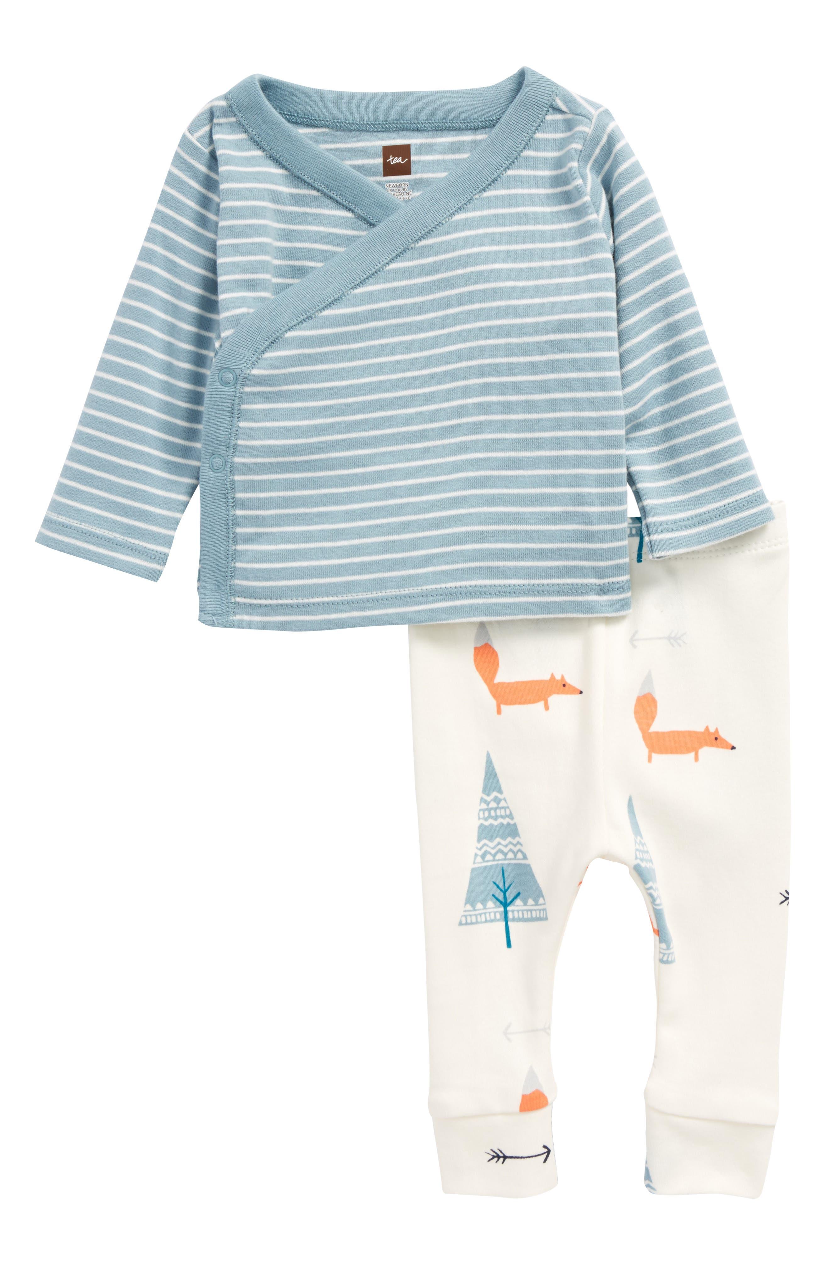 TEA COLLECTION,                             Wrap Tunic & Pants Set,                             Main thumbnail 1, color,                             466