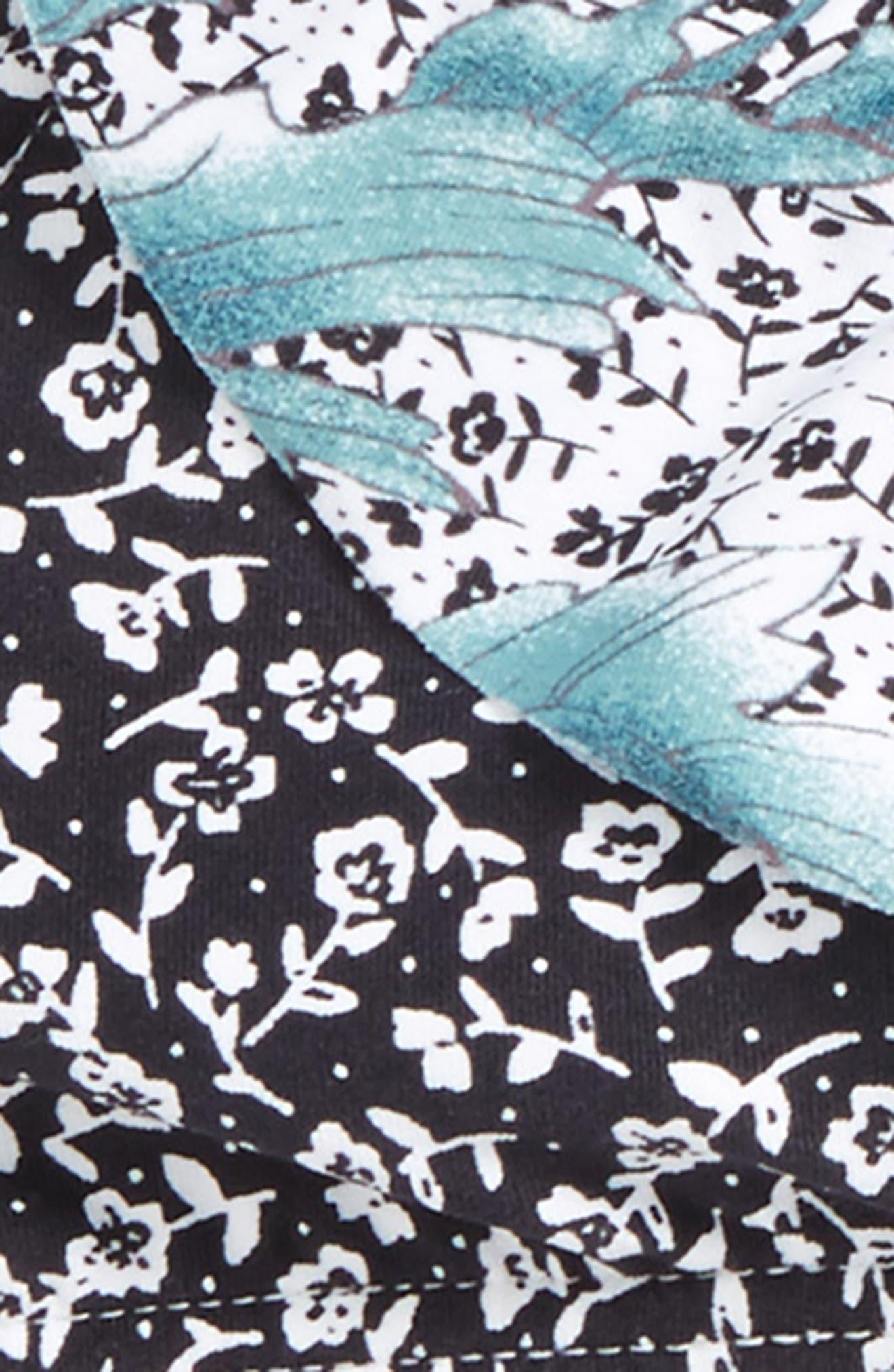 Jamison Ruffle Two-Piece Swimsuit,                             Alternate thumbnail 4, color,                             100