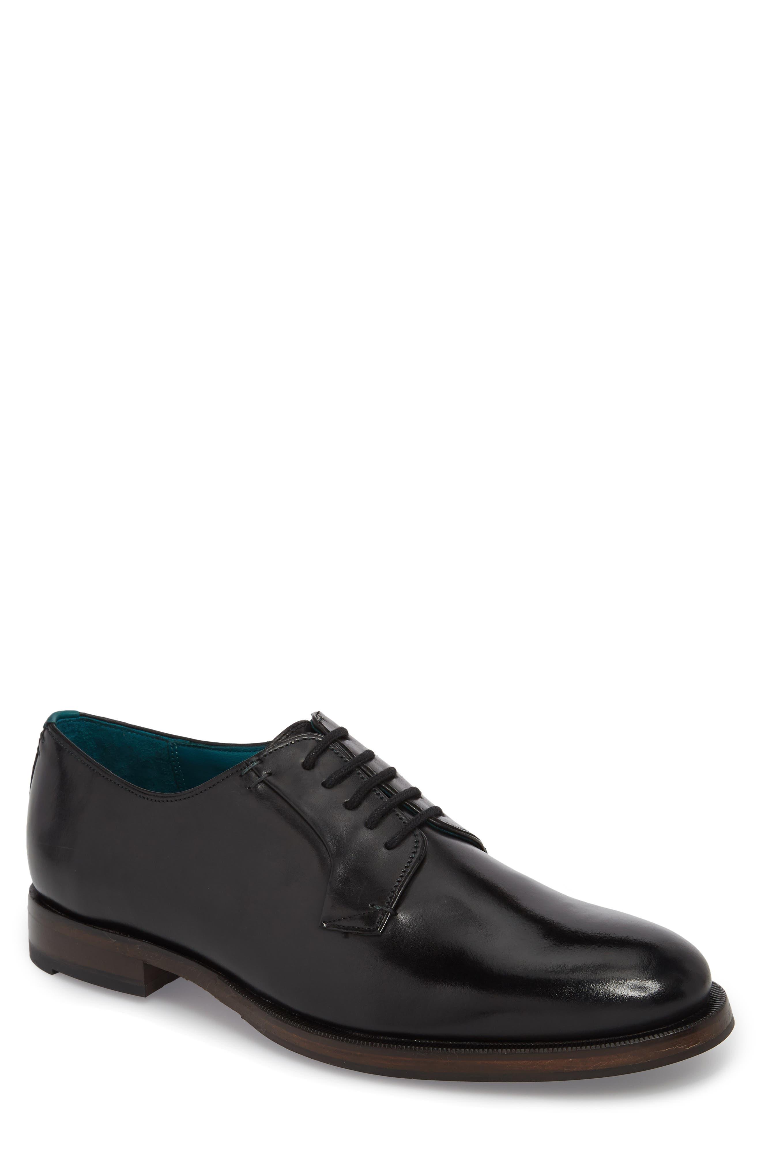 Silice Plain Toe Derby,                         Main,                         color, BLACK LEATHER