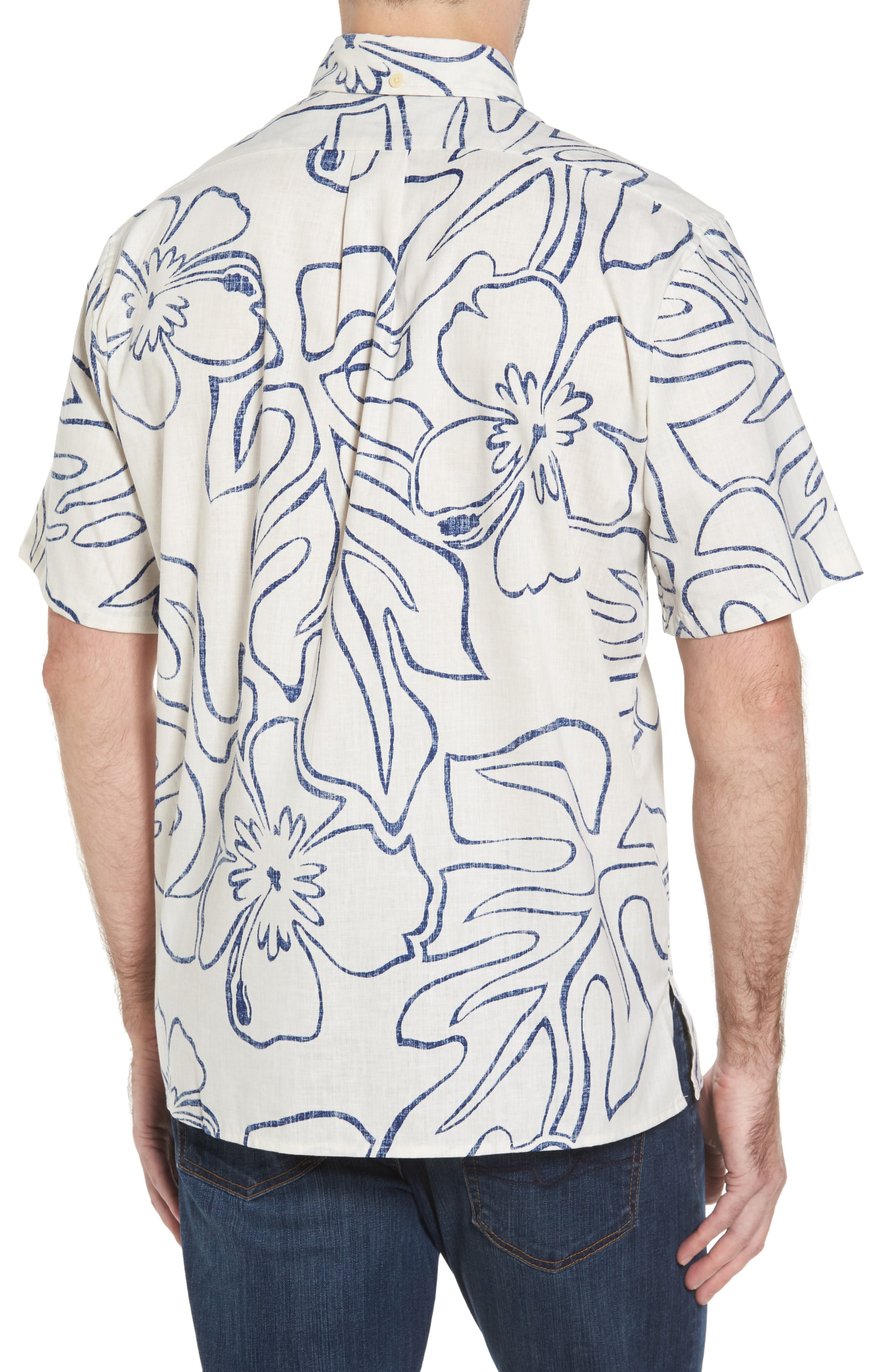 Monstera Ink Classic Fit Sport Shirt,                             Alternate thumbnail 2, color,                             104