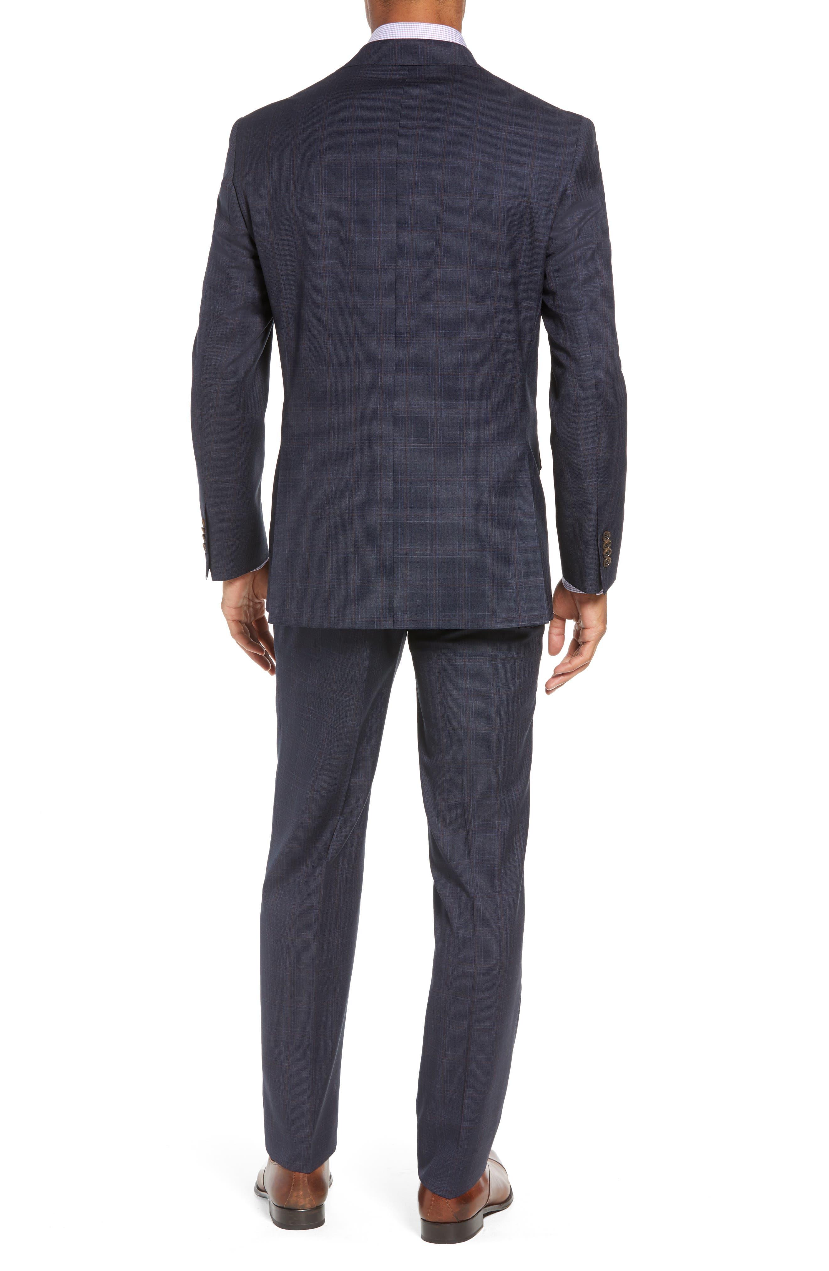 Ryan Classic Fit Plaid Wool Suit,                             Alternate thumbnail 2, color,                             NAVY