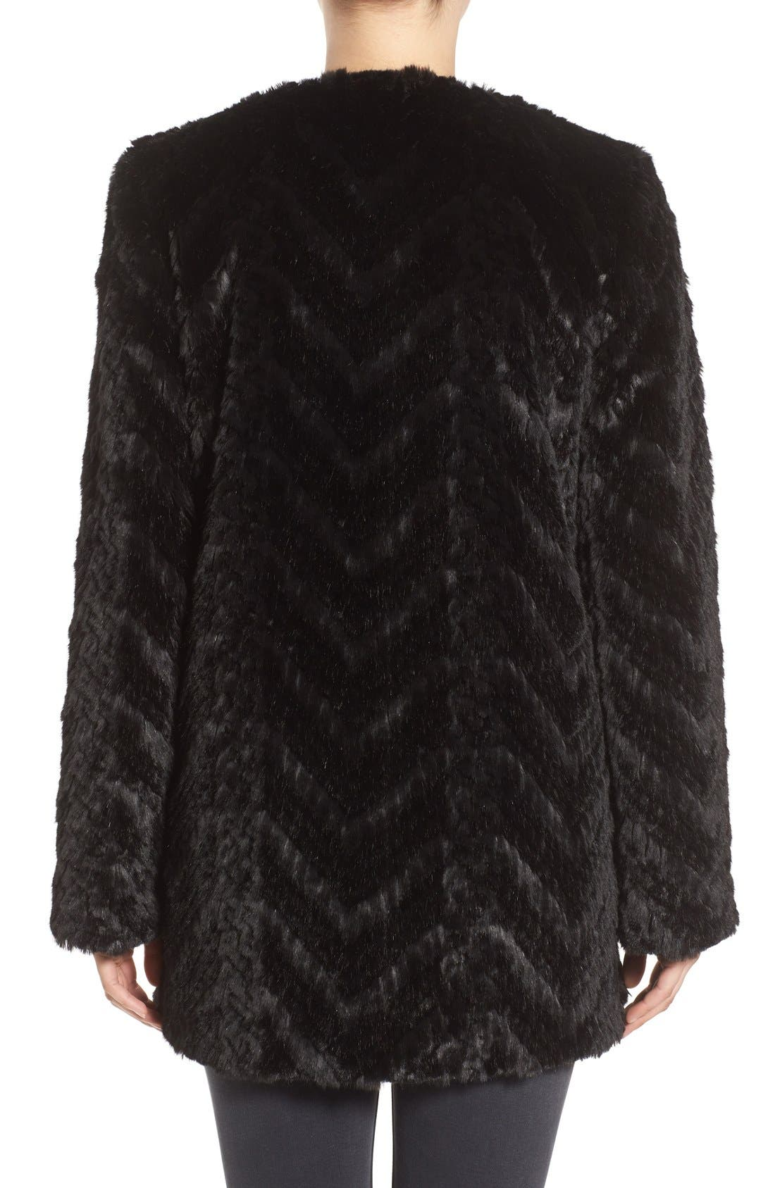 Tiered Faux Fur Topper,                             Alternate thumbnail 2, color,                             001
