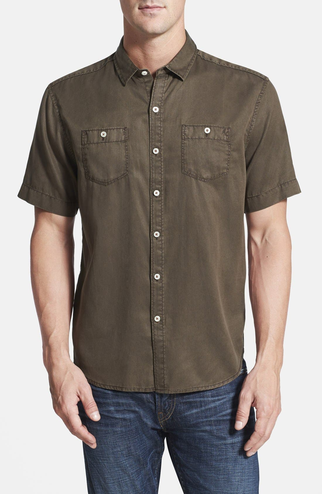 'New Twilly' Island Modern Fit Short Sleeve Twill Shirt,                             Main thumbnail 5, color,