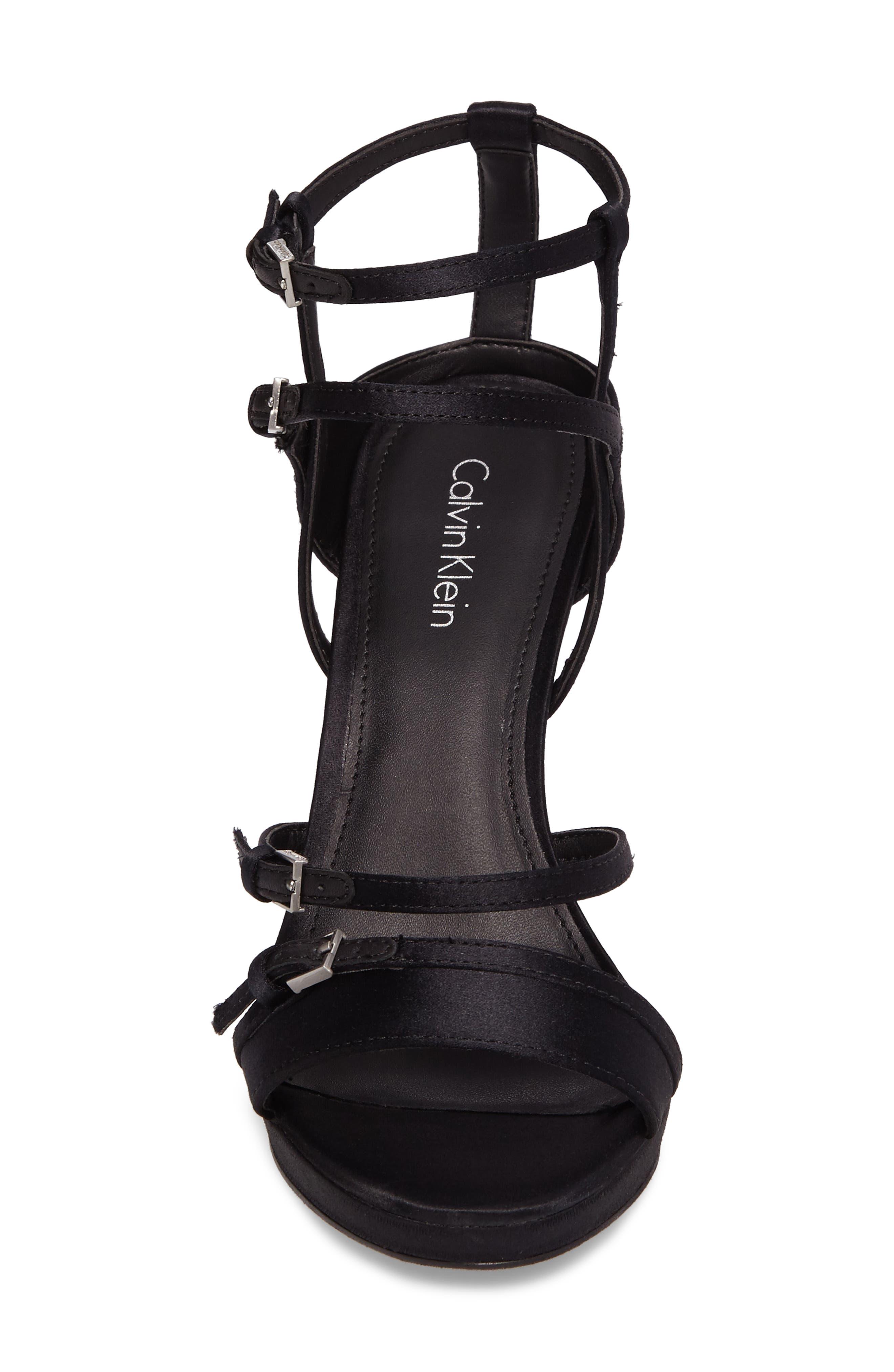 Shantell Strappy Platform Sandal,                             Alternate thumbnail 4, color,                             001