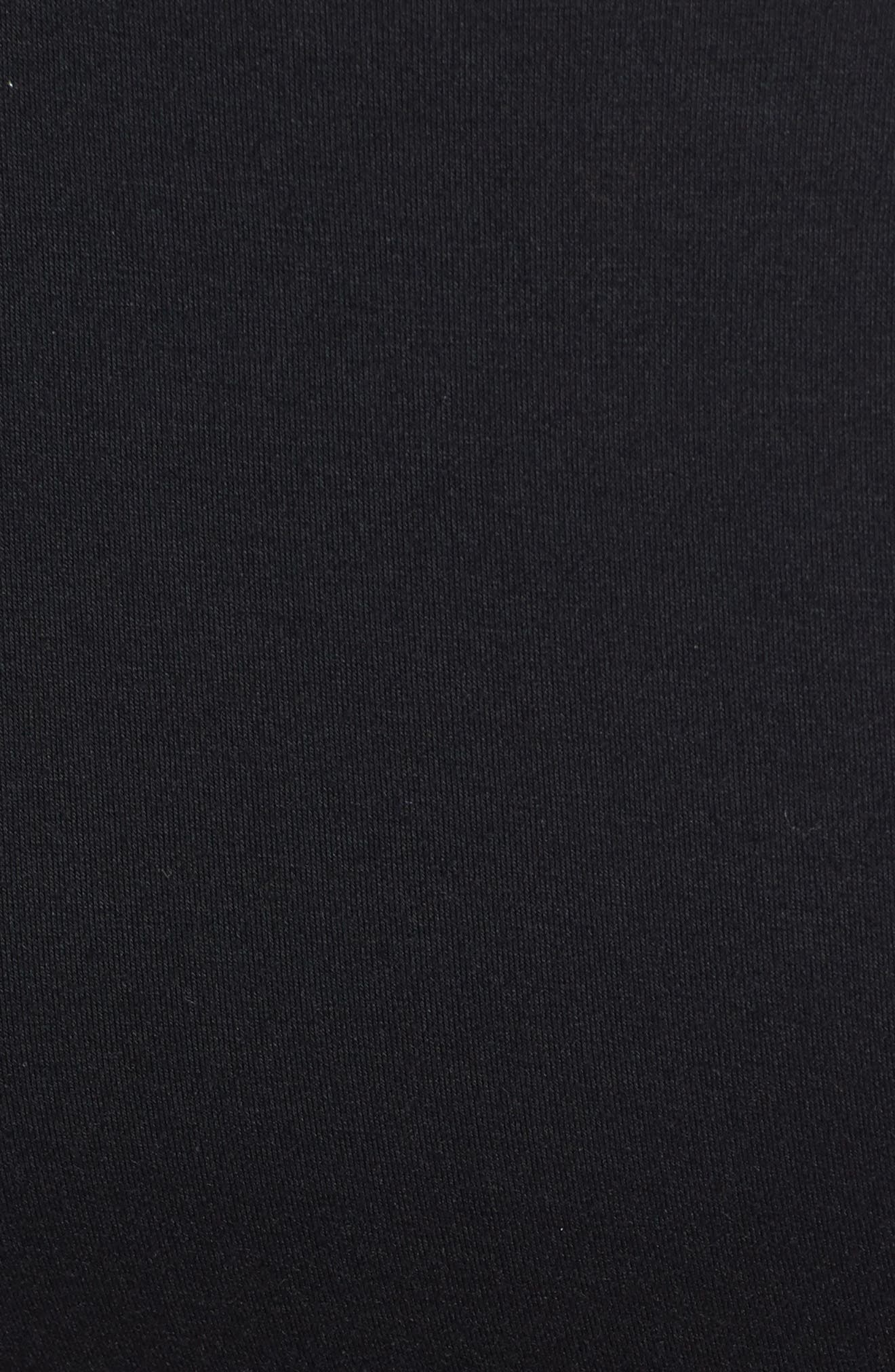 'Hailey' Maternity Dress,                             Alternate thumbnail 3, color,                             BLACK