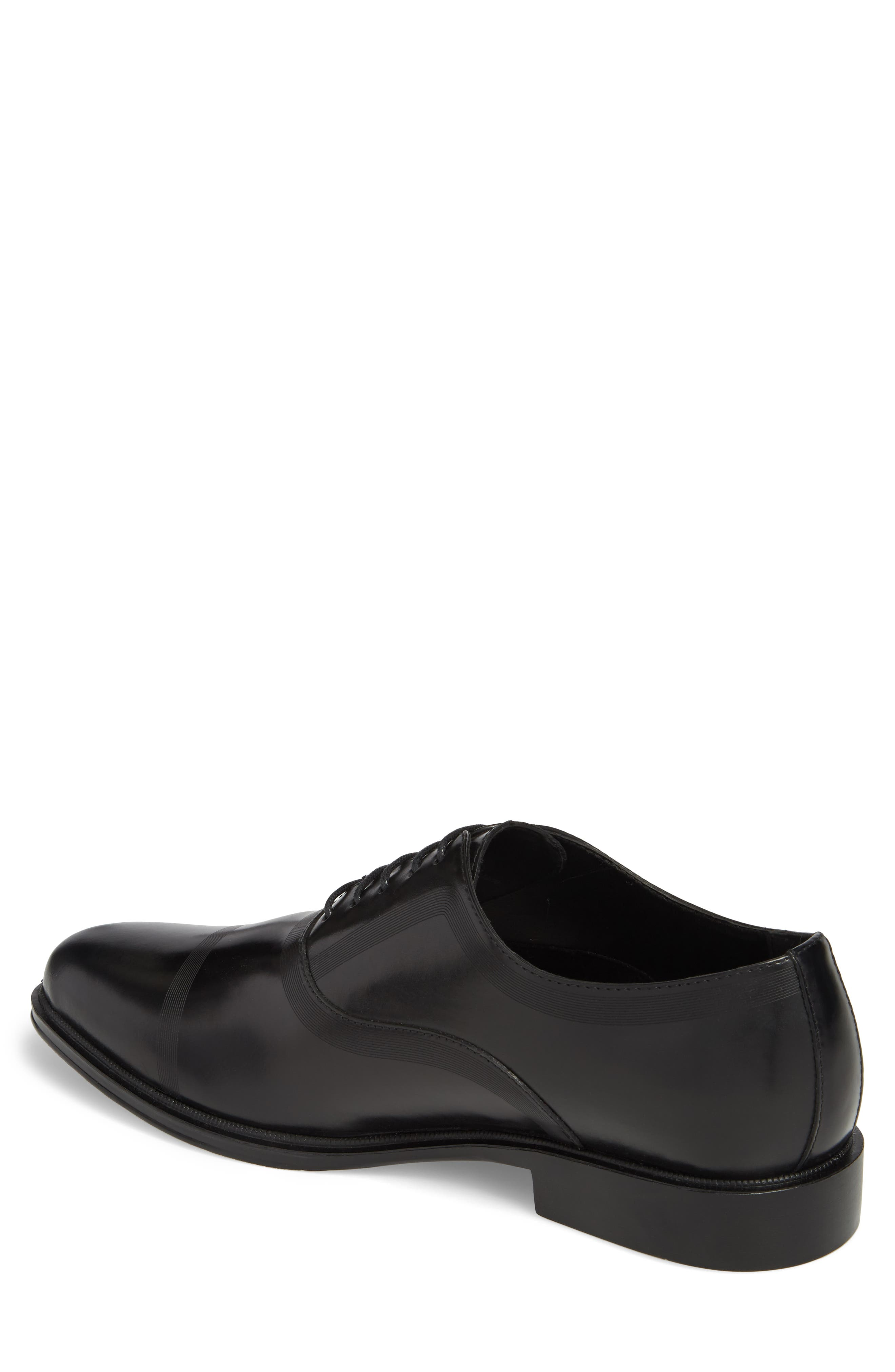 Zac Lace-Up Oxford,                             Alternate thumbnail 2, color,                             BLACK