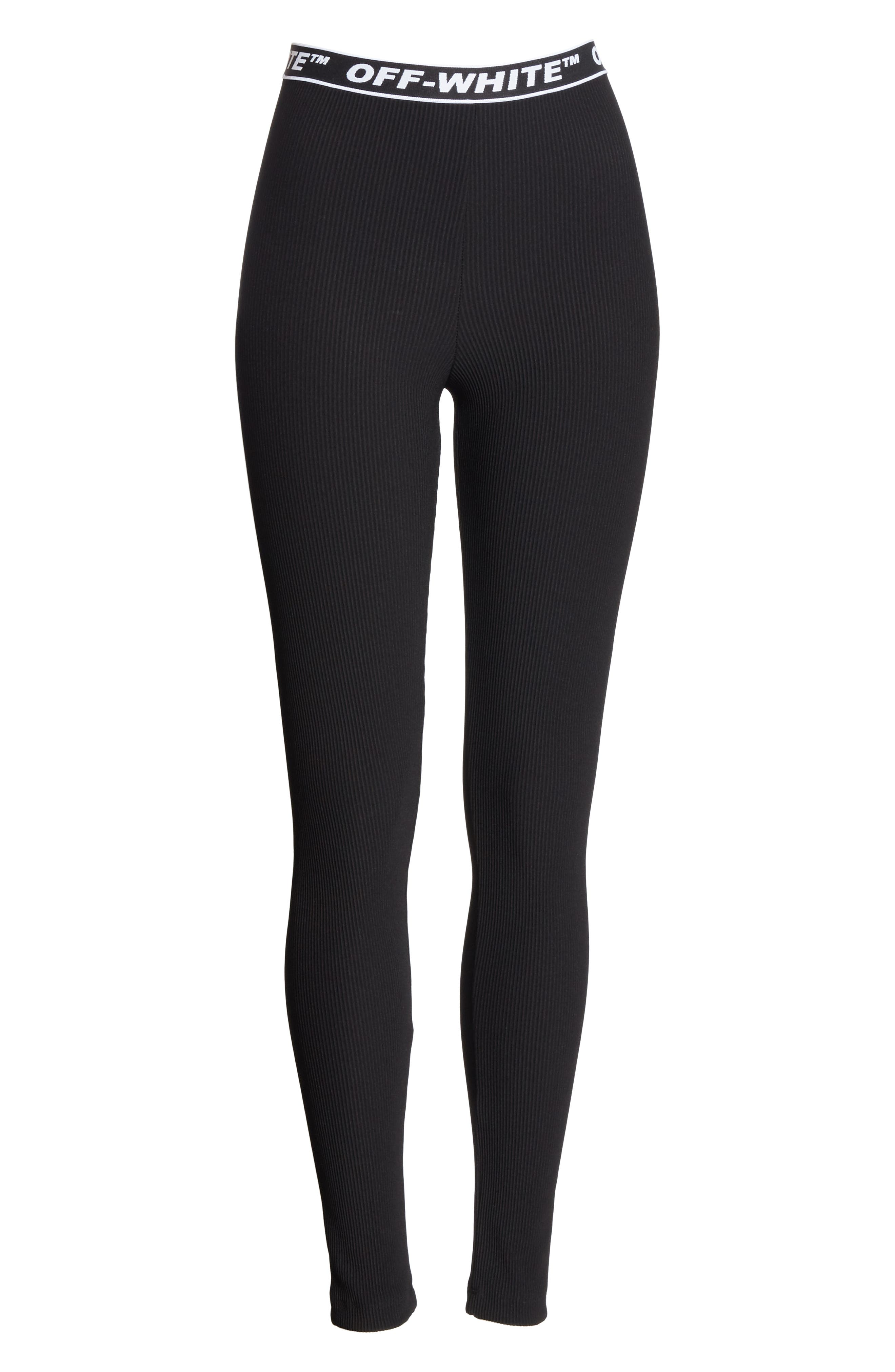 Cannette Simple Logo Leggings,                             Alternate thumbnail 6, color,                             001