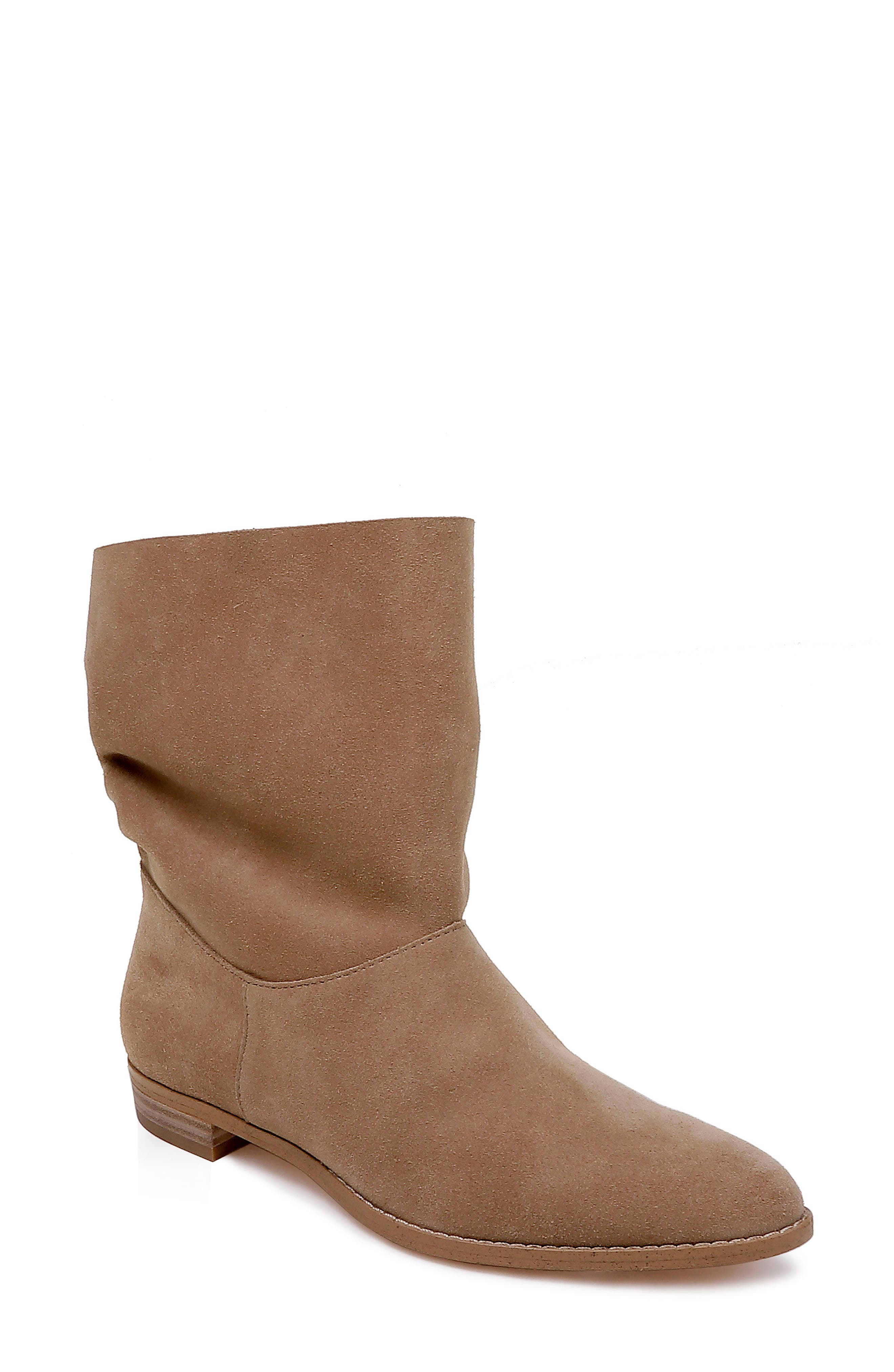Claudia Slouch Bootie,                             Main thumbnail 1, color,                             OAT SUEDE