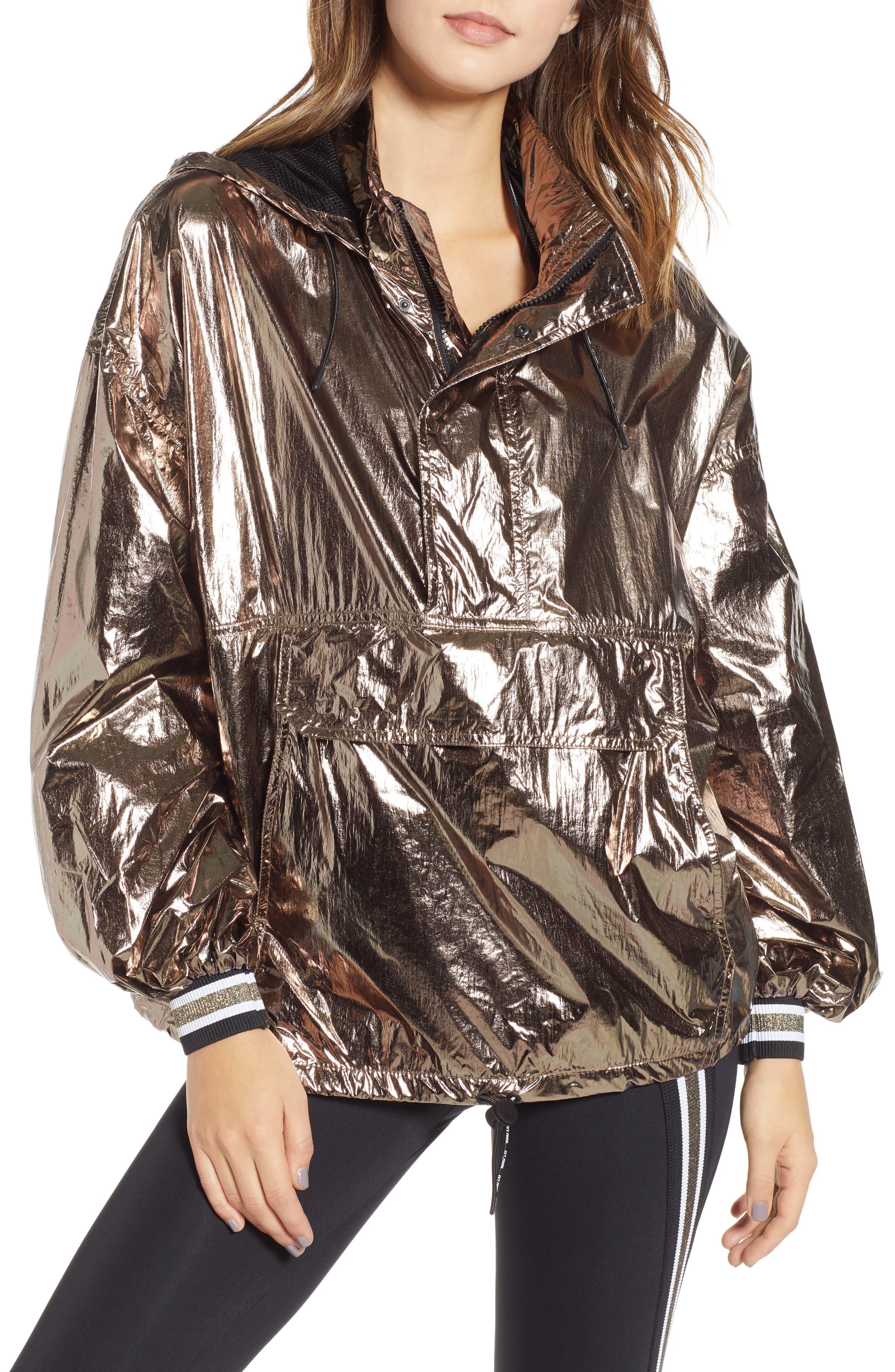Metallic Half Zip Pullover,                             Main thumbnail 1, color,                             200