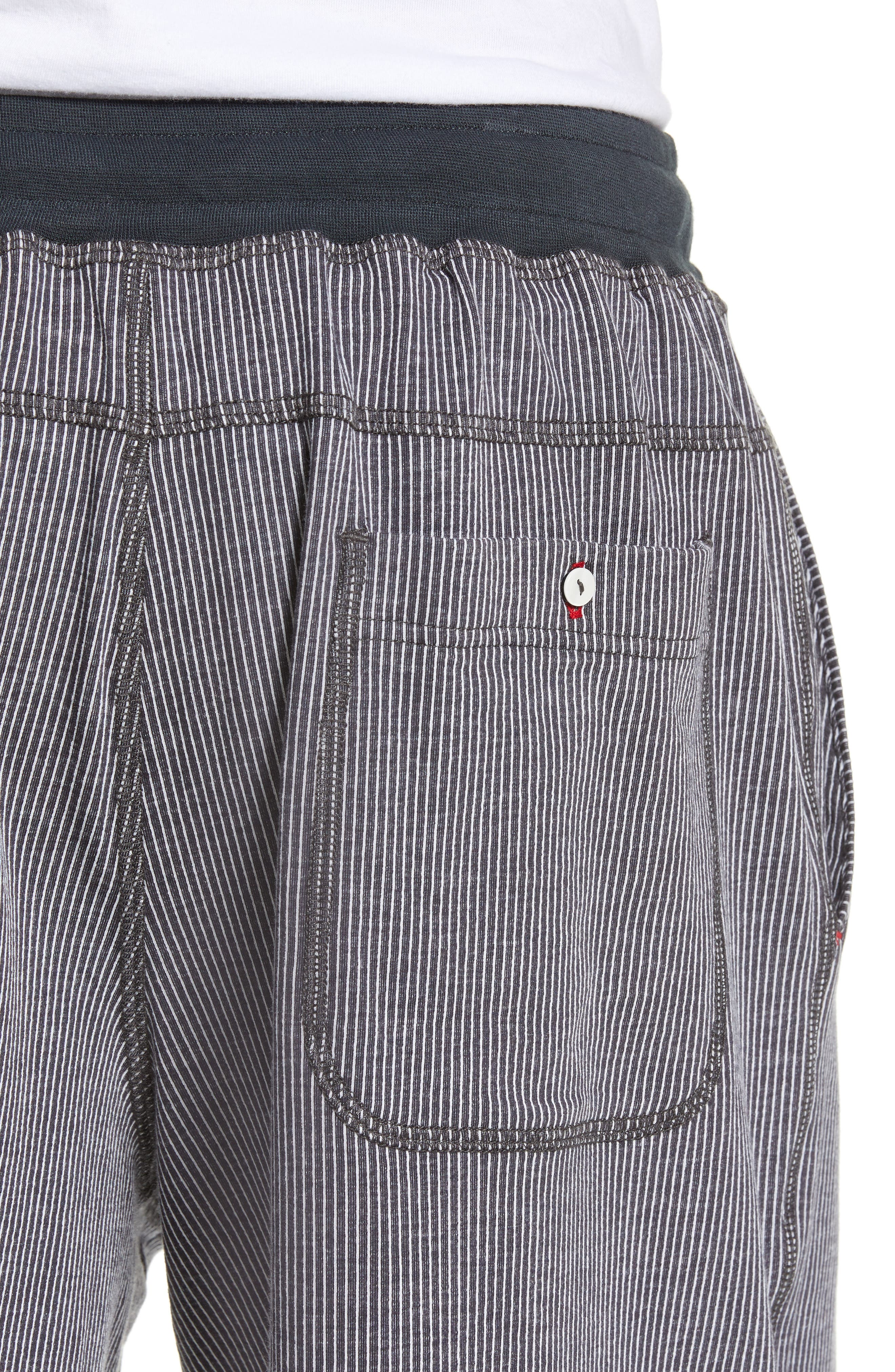 Pinstripe Shorts,                             Alternate thumbnail 4, color,                             CHARCOAL