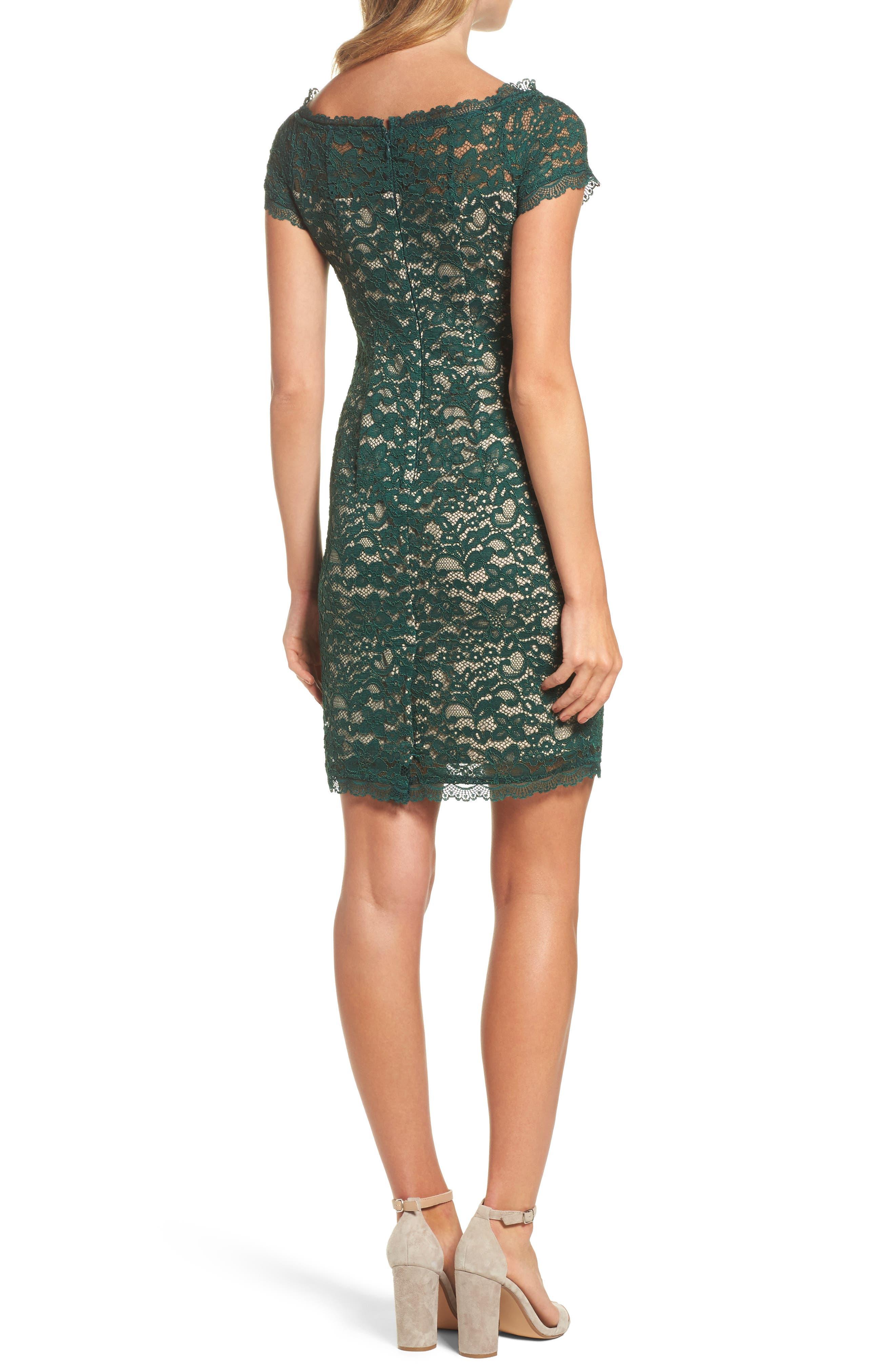 Aubrey Lace Sheath Dress,                             Alternate thumbnail 2, color,                             303