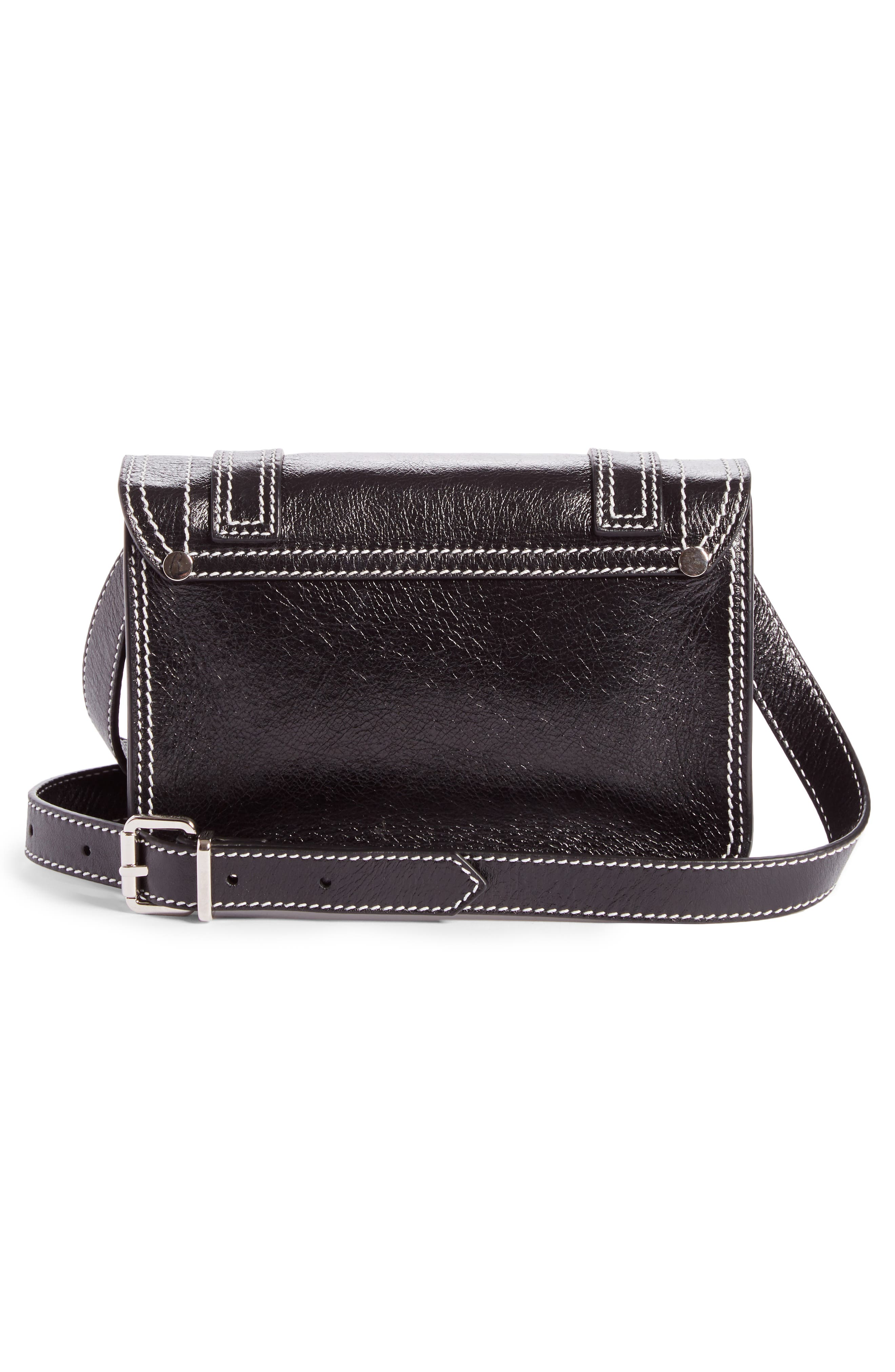 Mini PS1 Leather Crossbody Bag,                             Alternate thumbnail 3, color,                             001